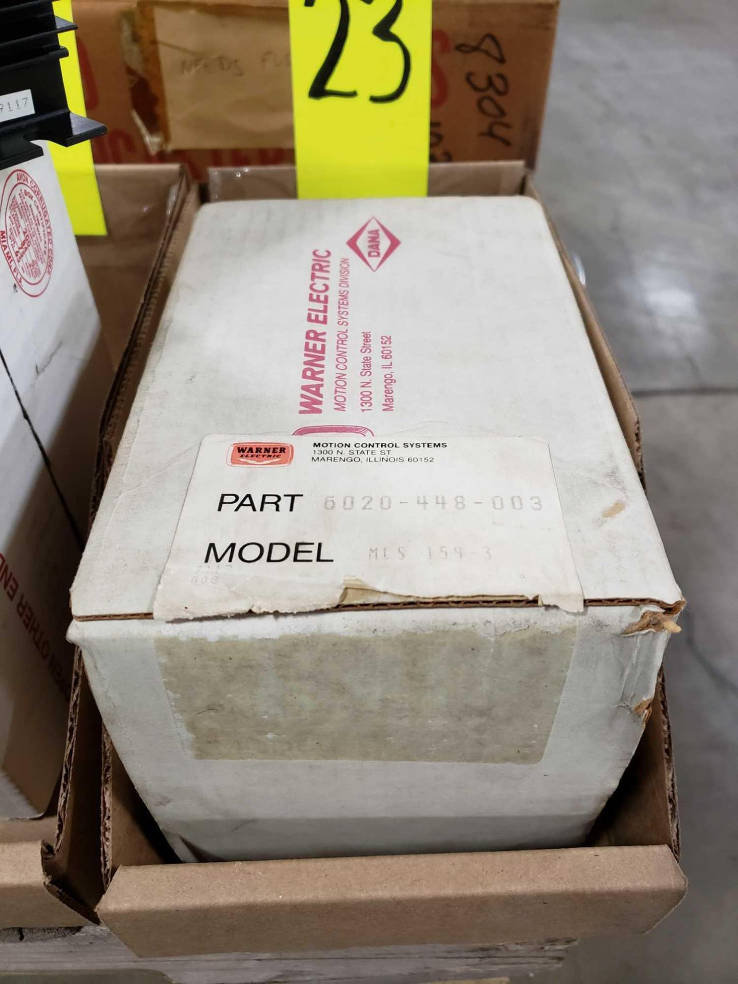 Lot 23 - Warner Electric drive model MCS-154-3, part number 6020-448-003. New in box.