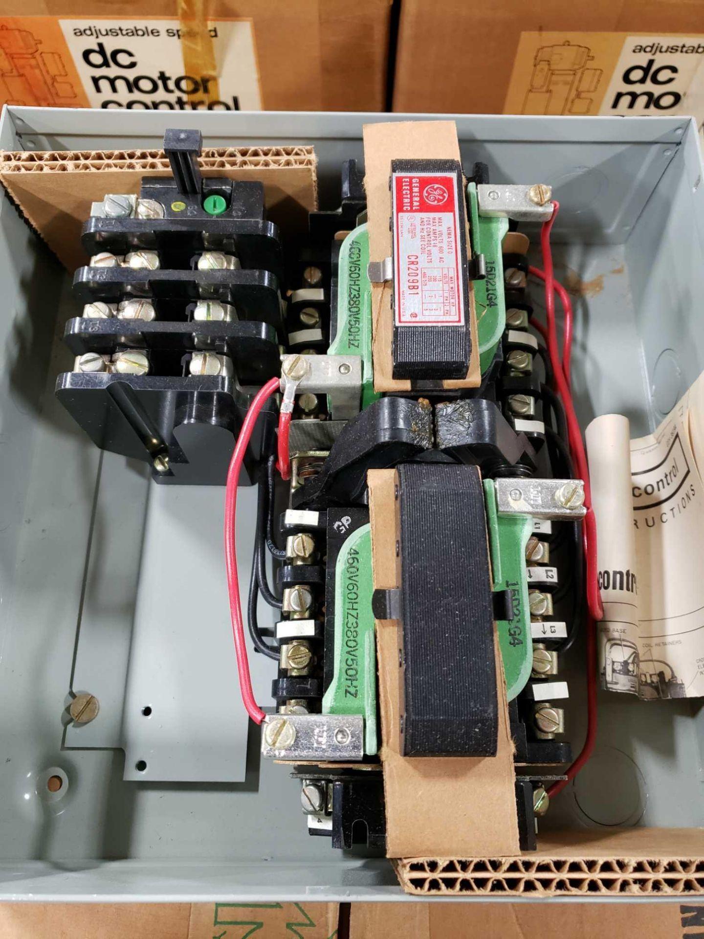 Lot 5 - GE magnetic controller reversing contractor CR209B104 Nema size O, nema 1 enclosure. New in box.