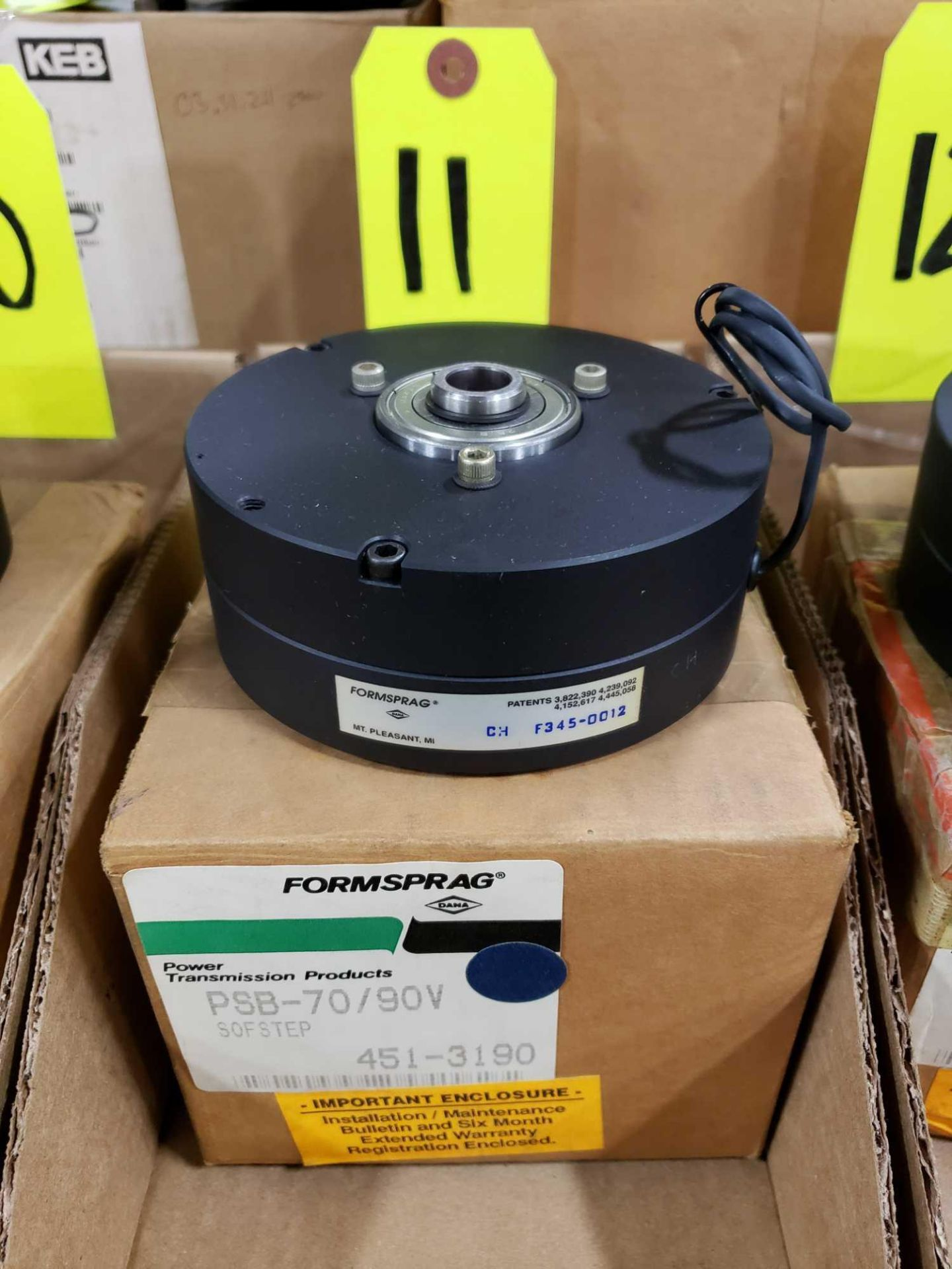 Lot 11 - Formsprag Magpowr sofstep model PSB-70/90V magnetic partical clutch brake. New in box.