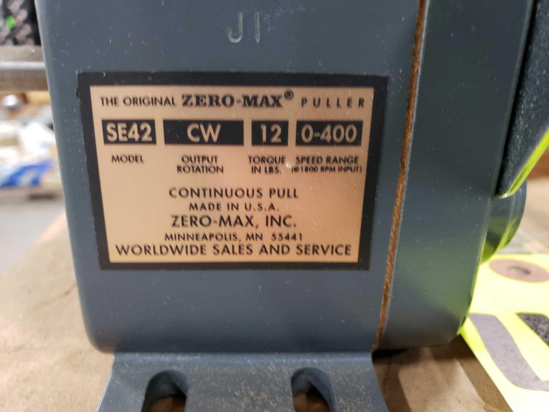Lot 47 - Zero-max drive power block model SE42, CW output rotation, 12lb torque, 0-400 speed range. New.