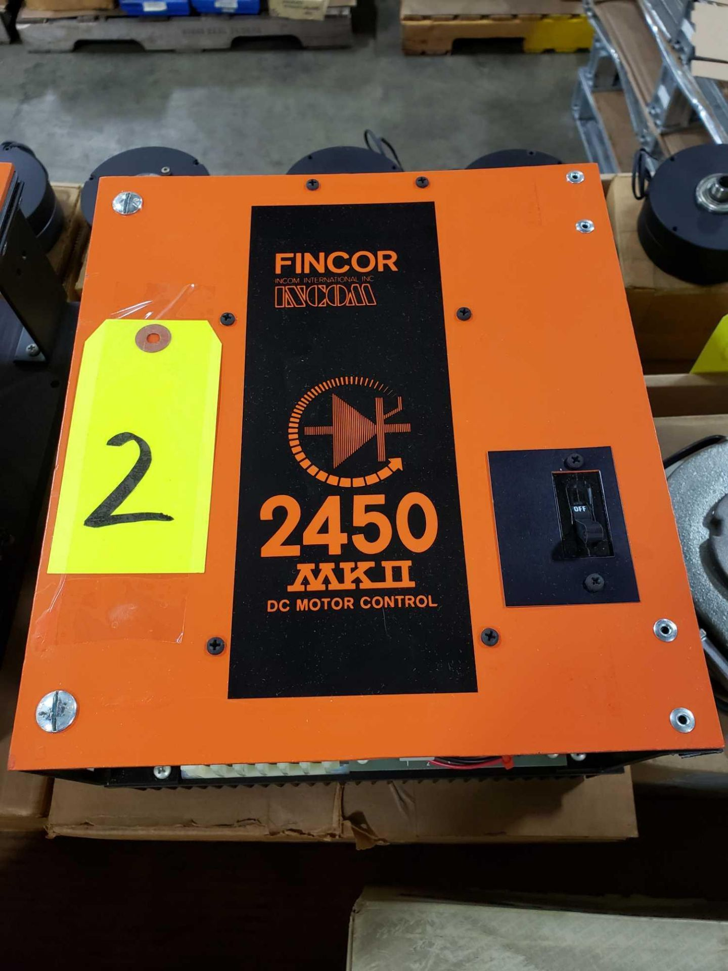 Lot 2 - Fincor DC motor control model 2450 MKII part number 2453, 5hp 230v. New in box.