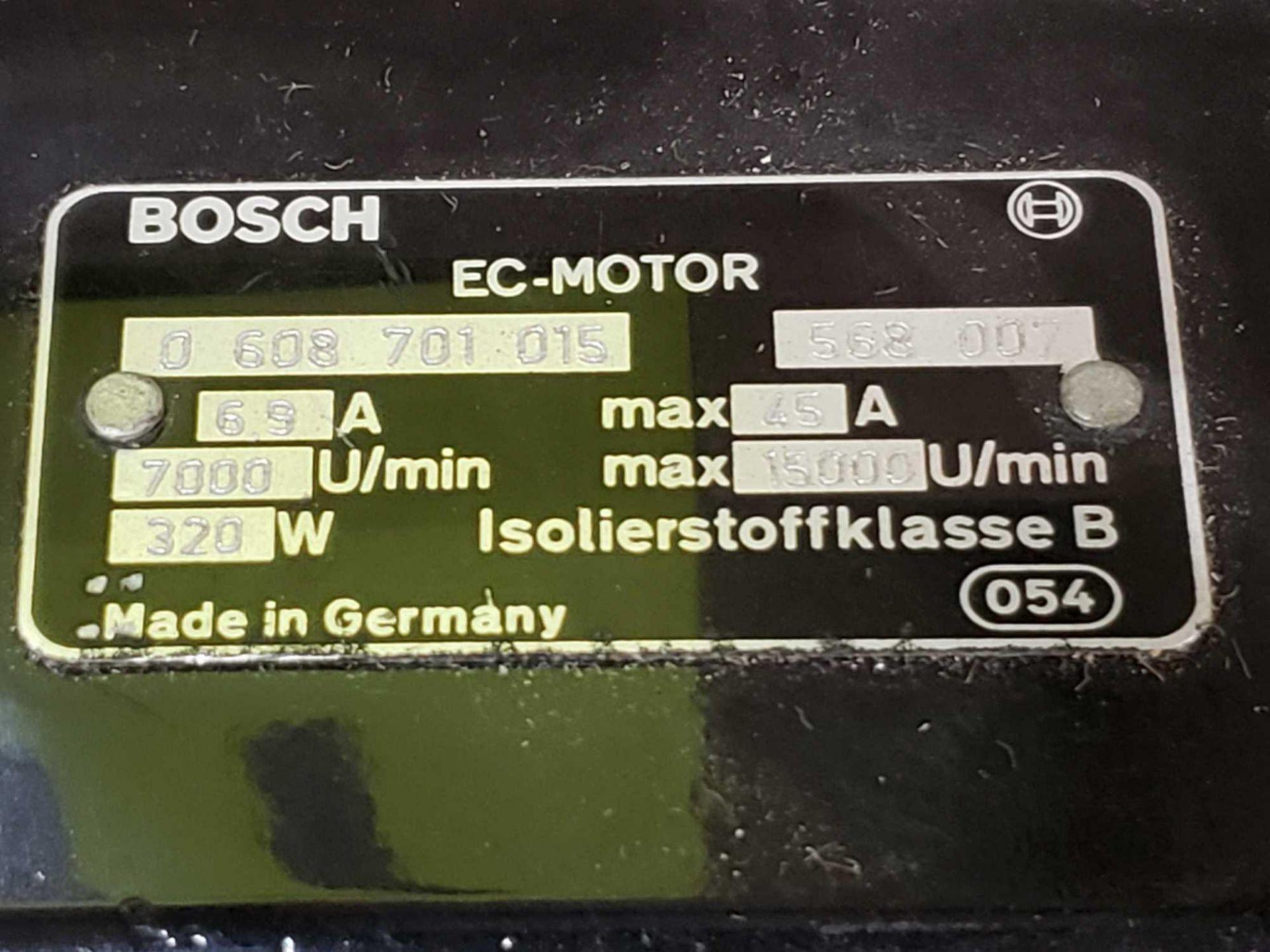 Lot 17 - Bosch EC motor model 0-608-701-015. Appears to be new old stock with shelf wear.