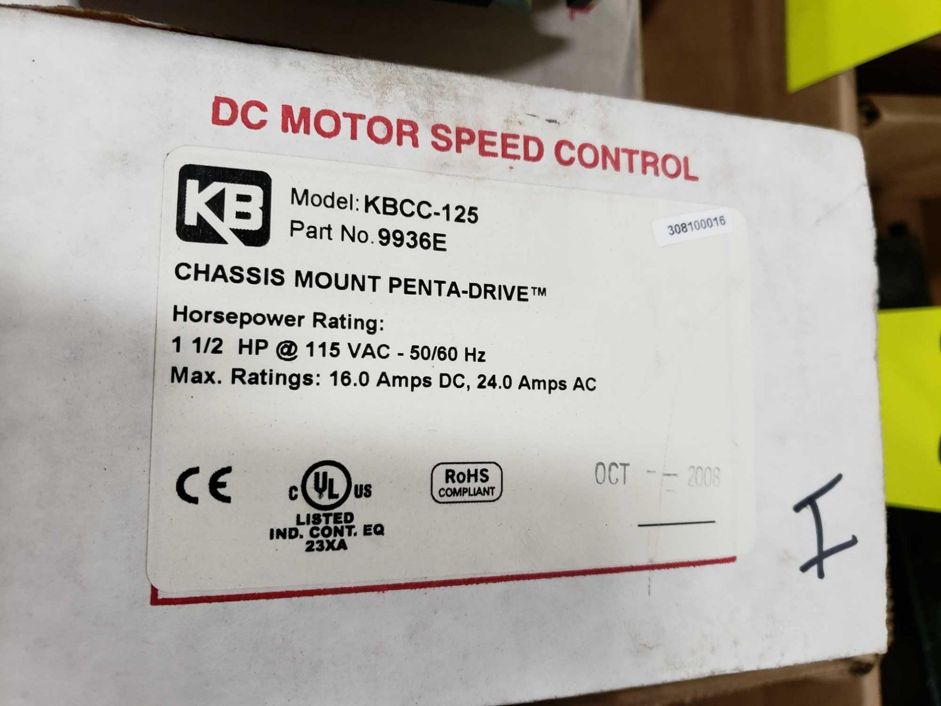 Lot 20 - KB Penta Power reversing controld drive. Model KBCC-125, part 9936ED. New in box.