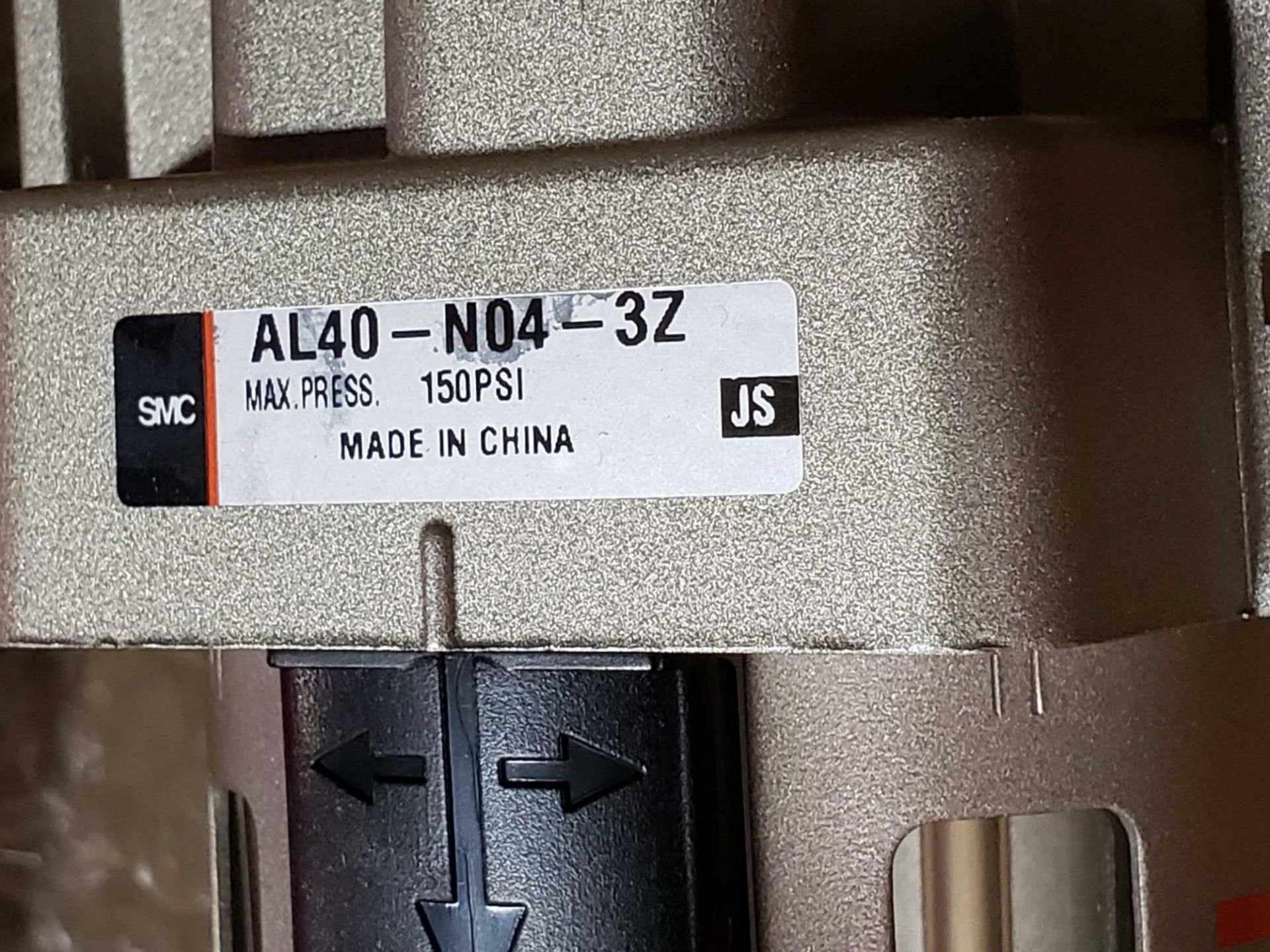 Lot 8 - Qty 2 - SMC filter housing model AL40-N04-3Z. New as pictured.