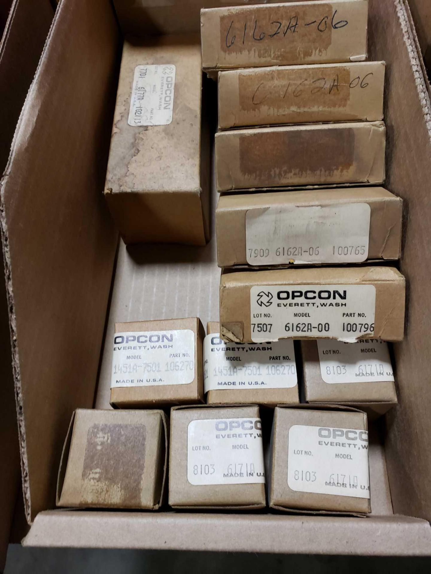 Lot 18 - Qty 12 - Assorted Opcon parts. New in box.
