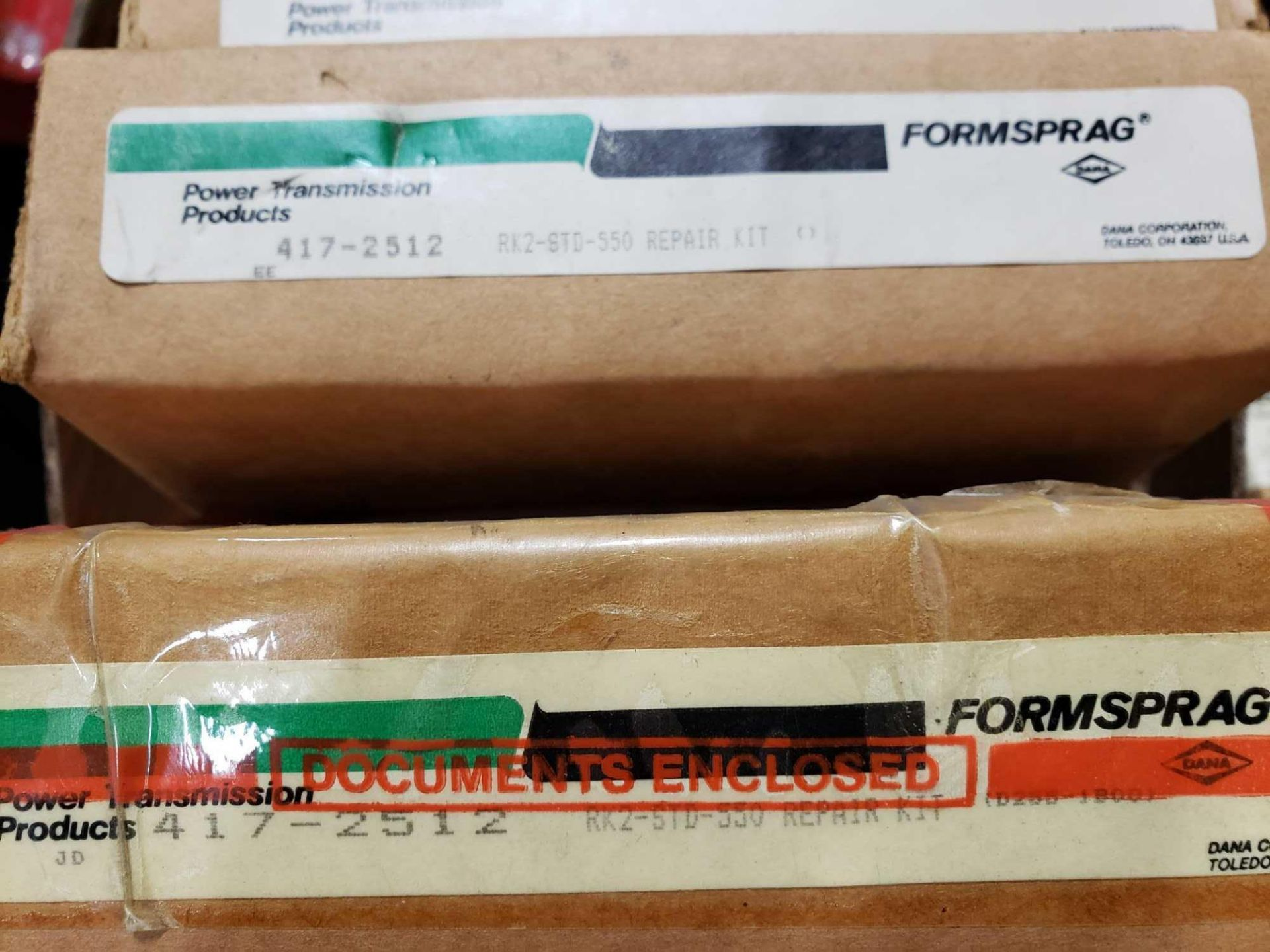 Lot 17 - Qty 6 - Assorted Formsprag clutch assembly rebuild kits. New in box.