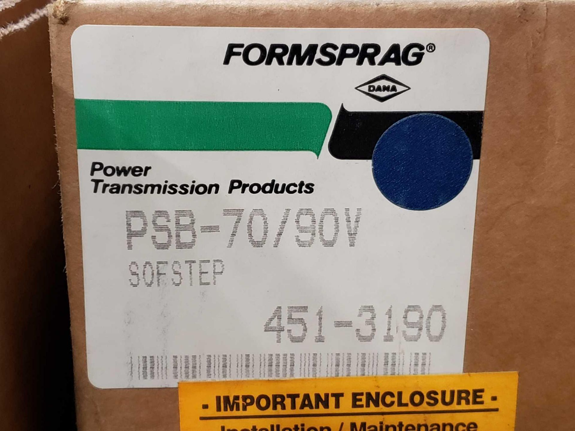 Lot 5 - Formsprag Magpowr sofstep model PSB-70/90V magnetic partical clutch brake. New in box.