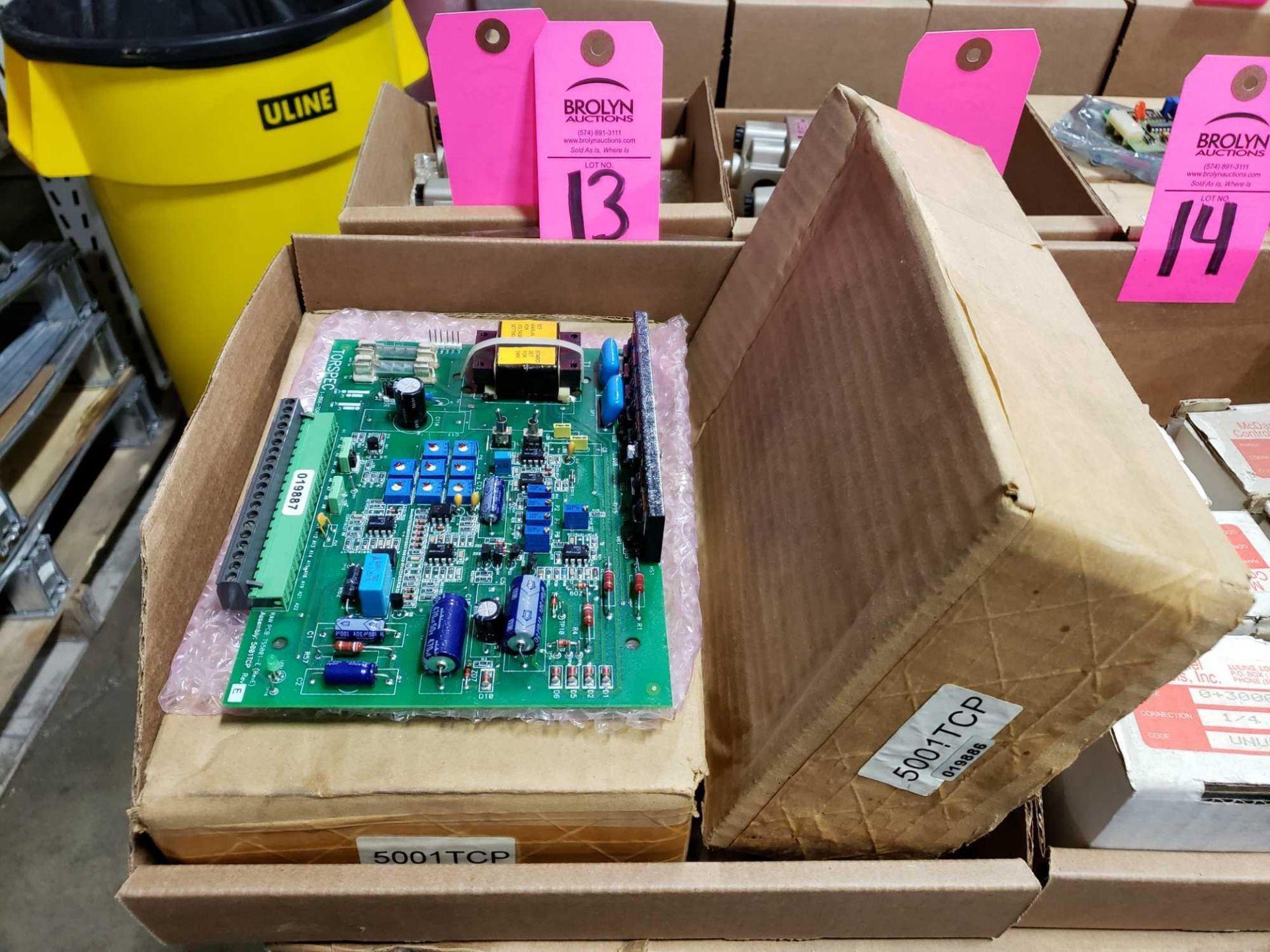 Lot 13 - Qty 2 - Torspec control board model 5001TCP. New in box.