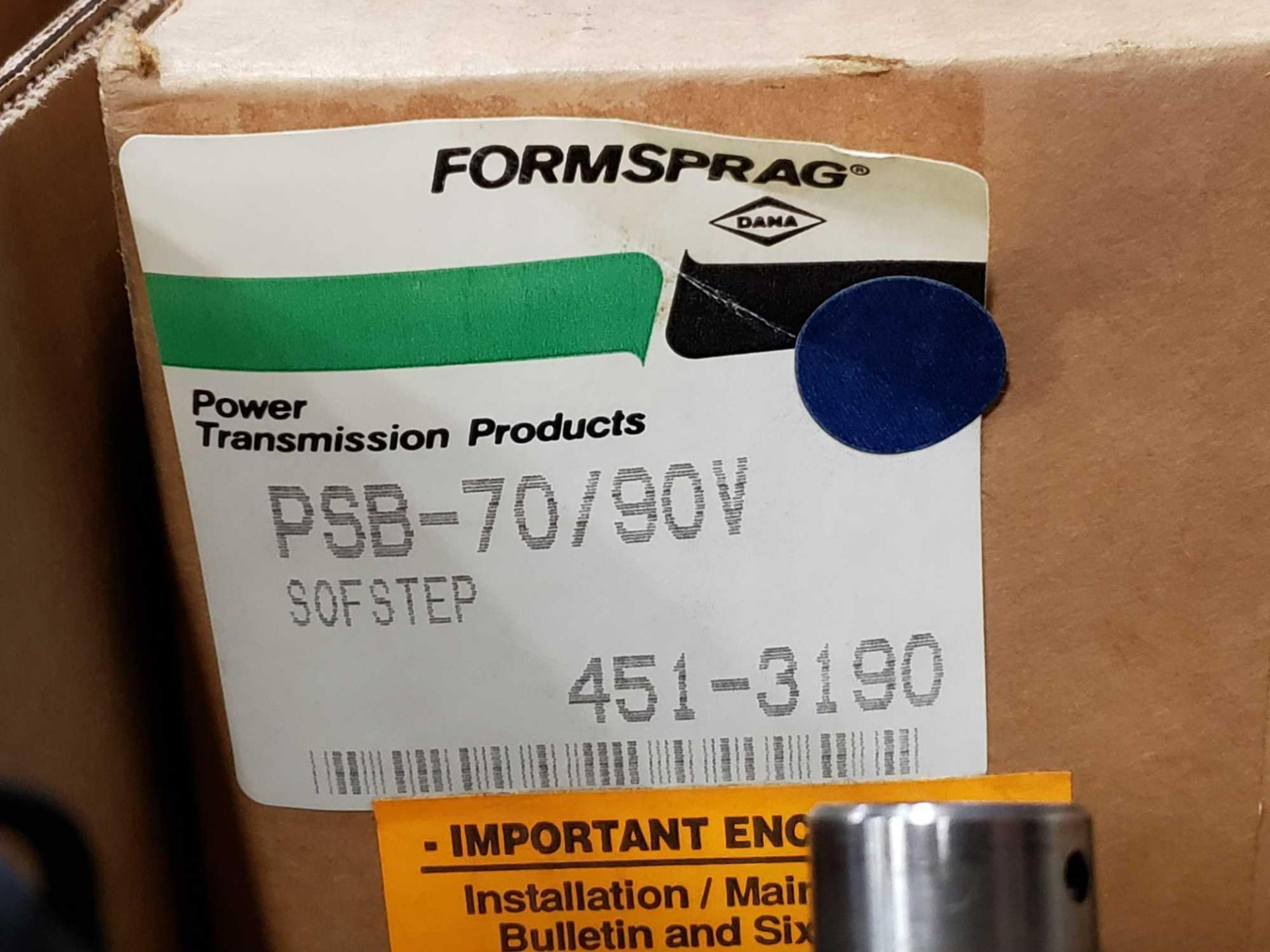 Lot 7 - Formsprag Magpowr sofstep model PSB-70/90V magnetic partical clutch brake. New in box.