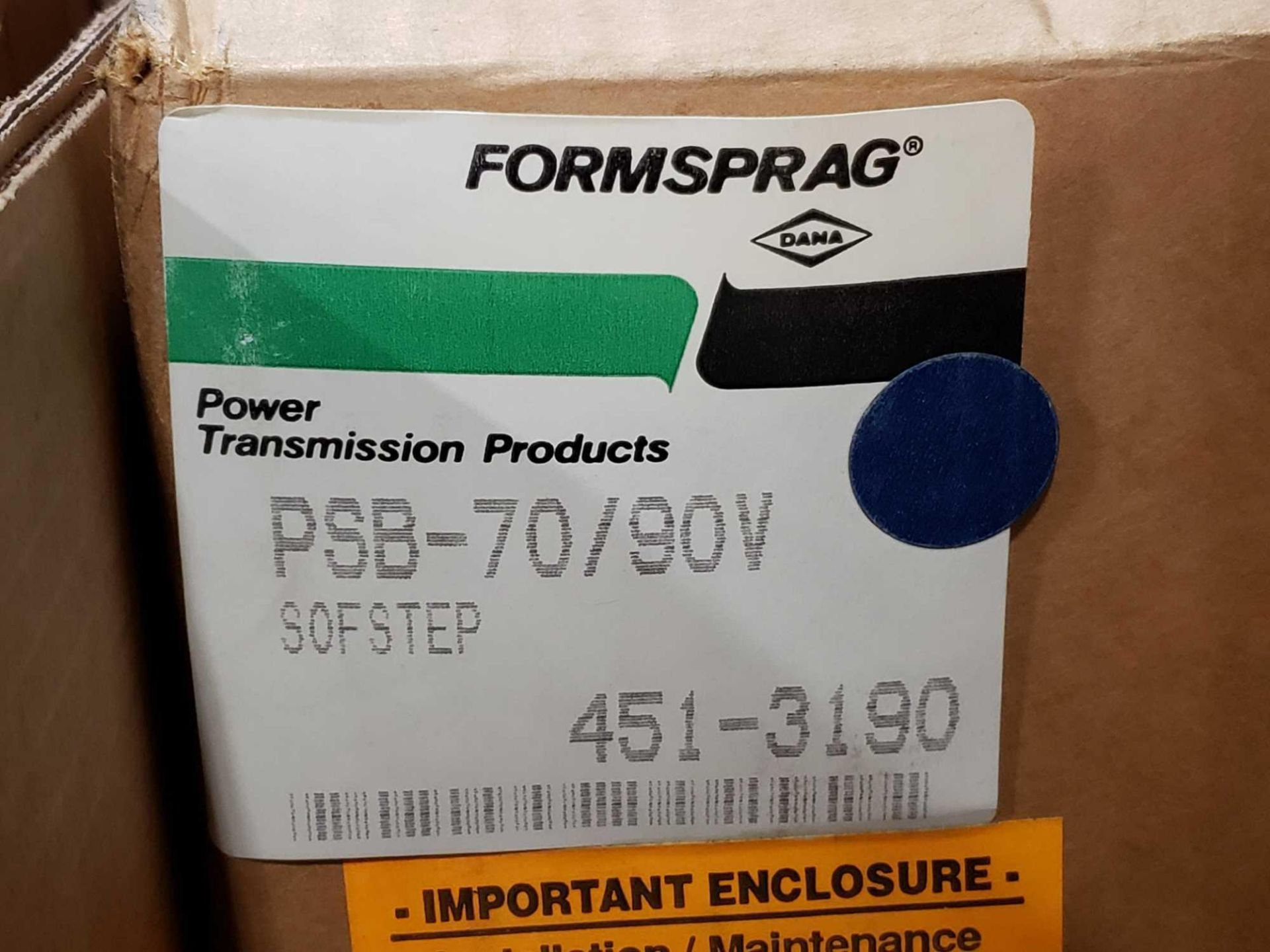 Lot 4 - Formsprag Magpowr sofstep model PSB-70/90V magnetic partical clutch brake. New in box. This item can