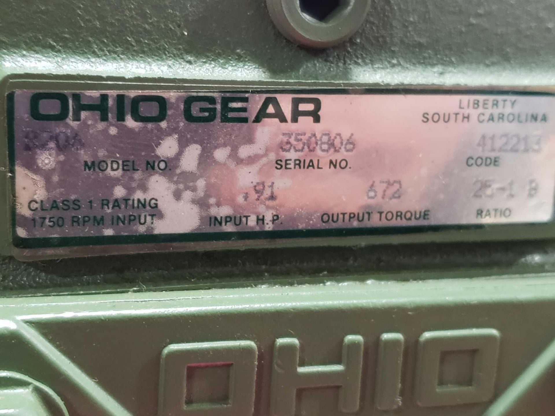 Lot 59 - Ohio Gear model B-206 speed reducer gear box. Ratio 25 to 1 B. New in box.