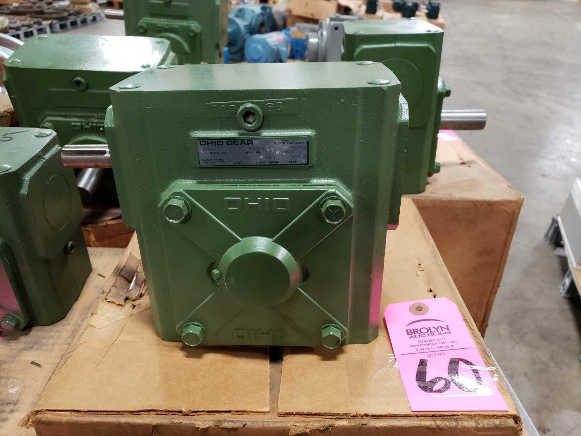 Lot 60 - Ohio Gear model B-262 speed reducer gear box. Ratio 50 to 1 B. New in box.