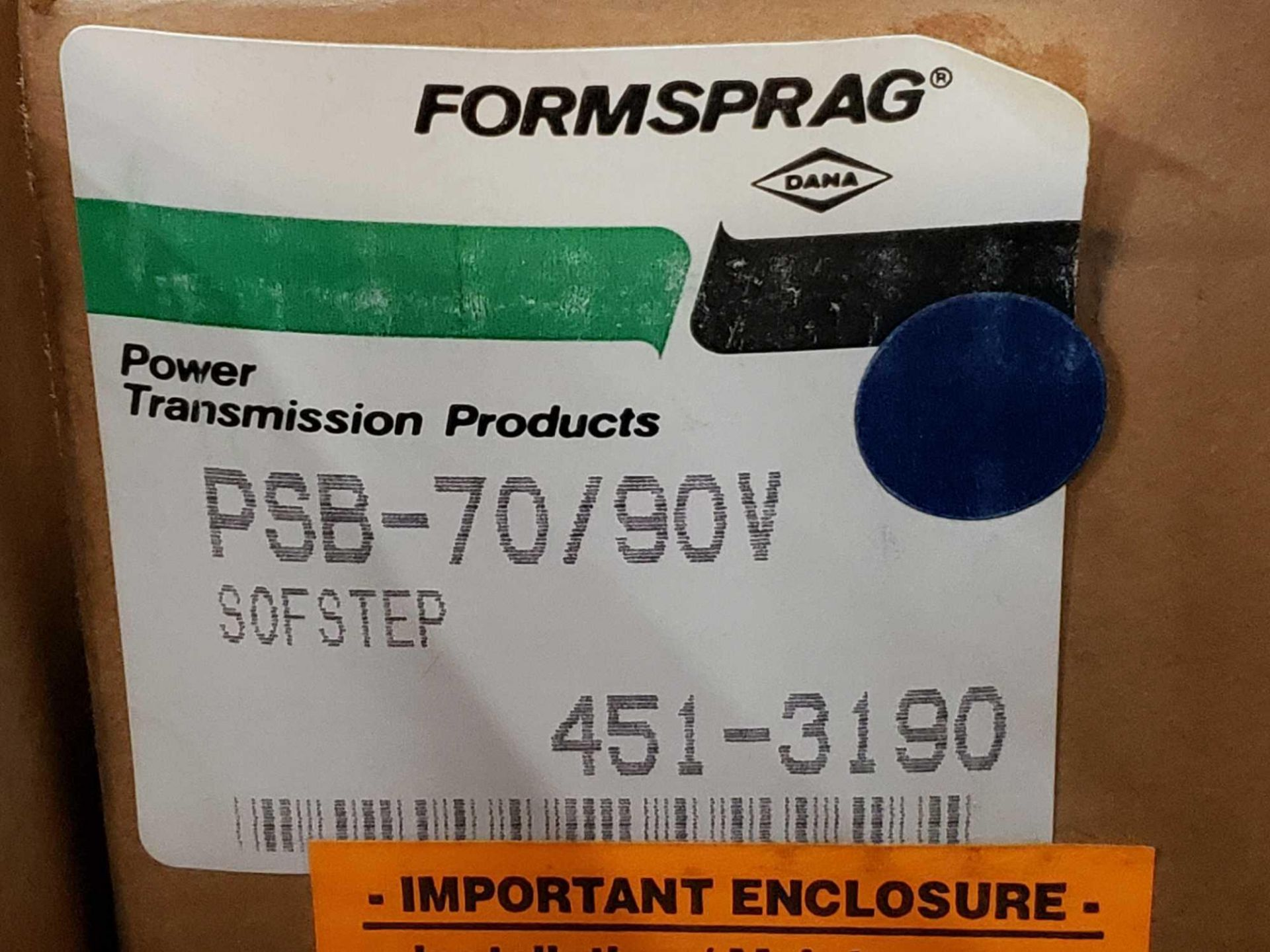 Lot 2 - Formsprag Magpowr sofstep model PSB-70/90V magnetic partical clutch brake. New in box.