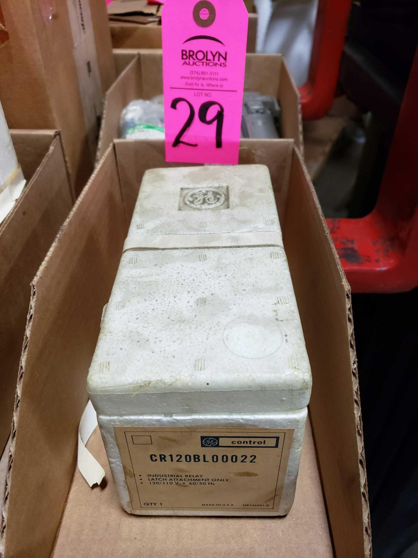 Lot 29 - GE control relay model CR120BL00022. New in package.