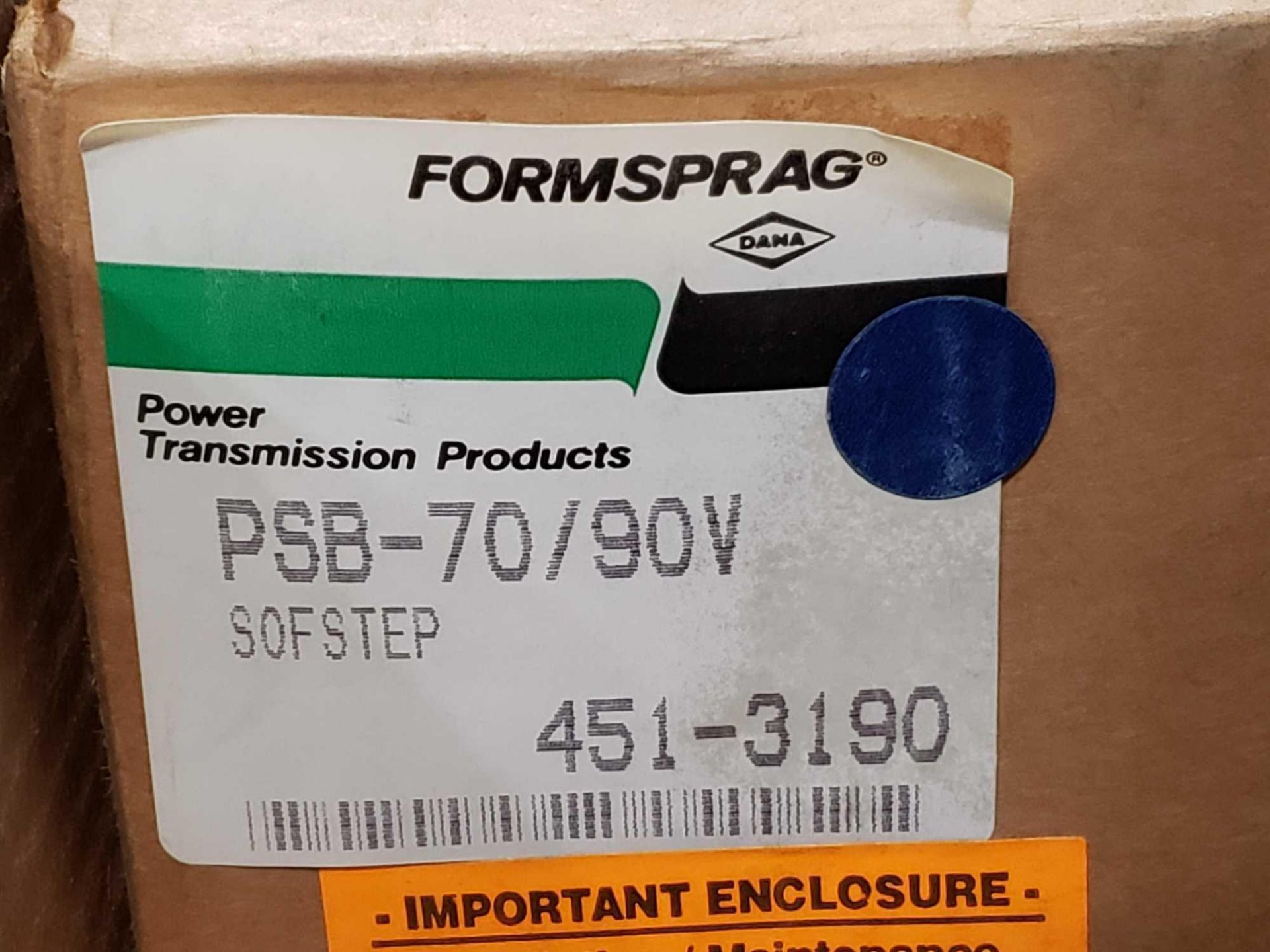 Lot 1 - Formsprag Magpowr sofstep model PSB-70/90V magnetic partical clutch brake. New in box.