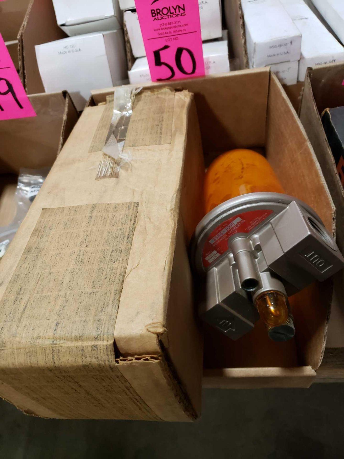 Lot 50 - Schrader lubricator model 3586-1000. New in box.