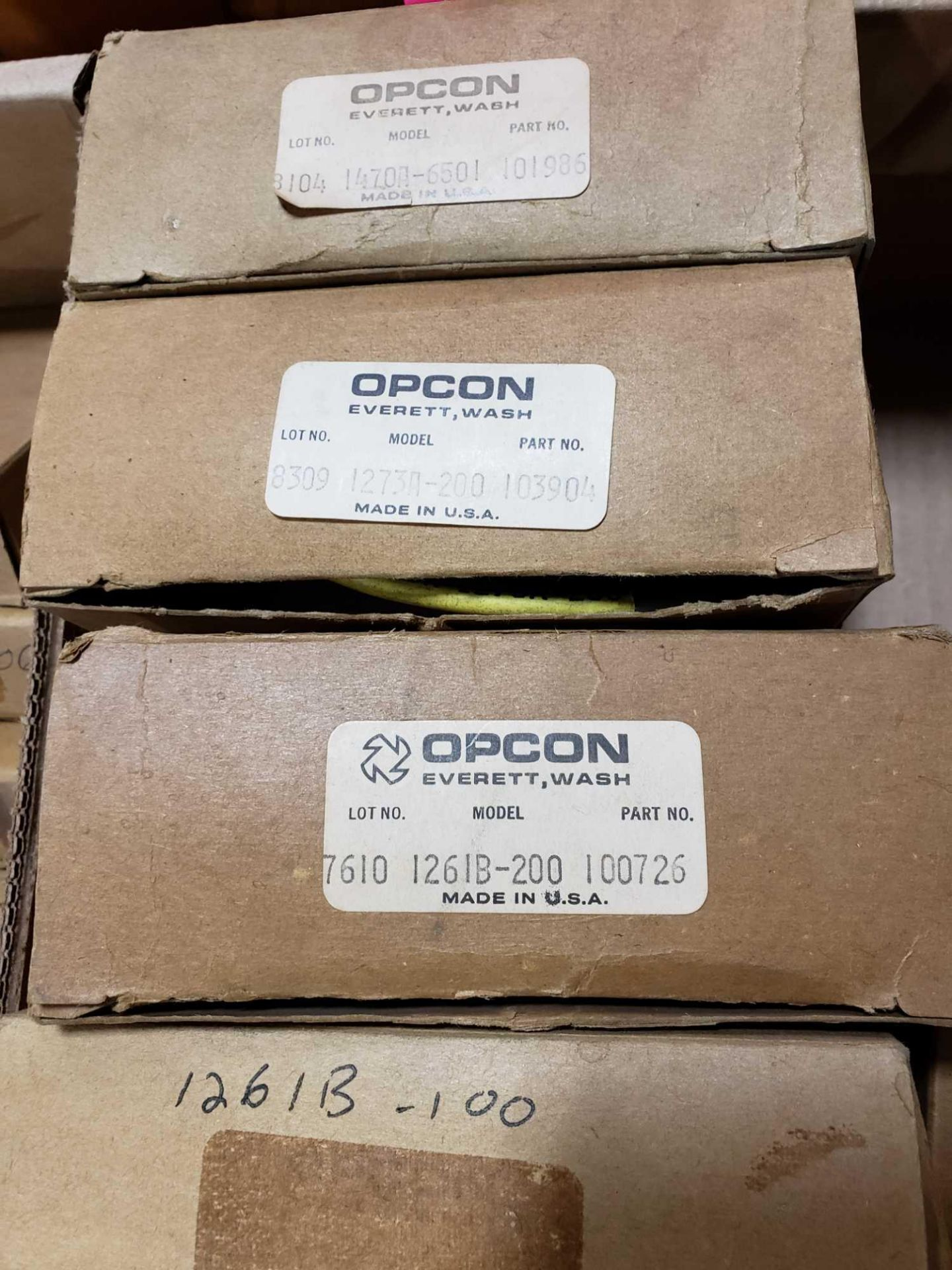 Lot 19 - Qty 7 - Assorted Opcon parts. New in box.