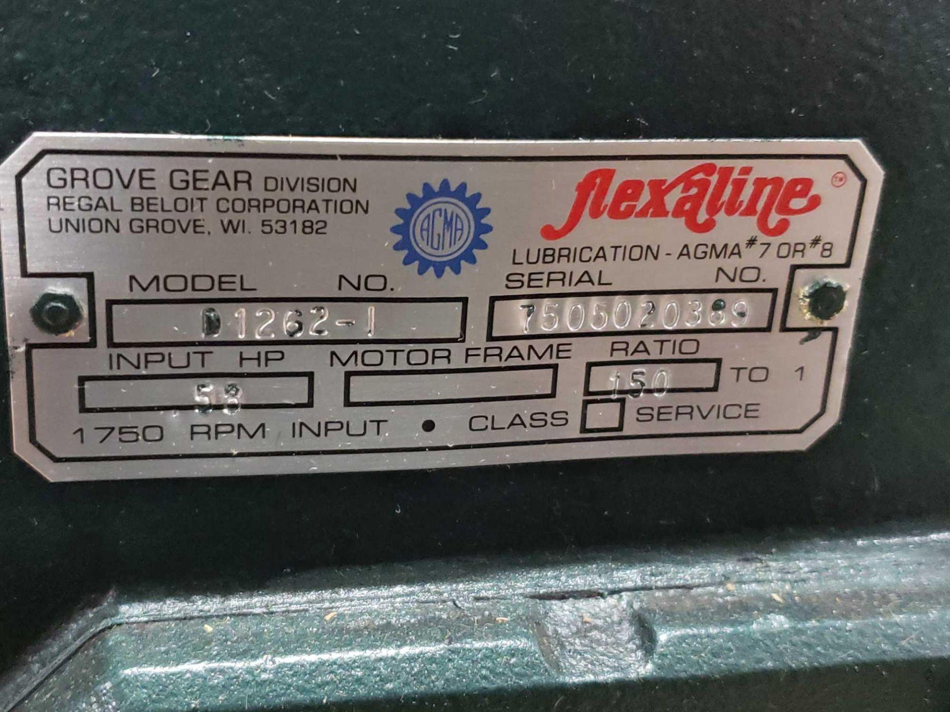 Lot 52 - Grove Gear Flexaline gearbox worm gear speed reducer model D1262-1, ratio 150:1. New in box.