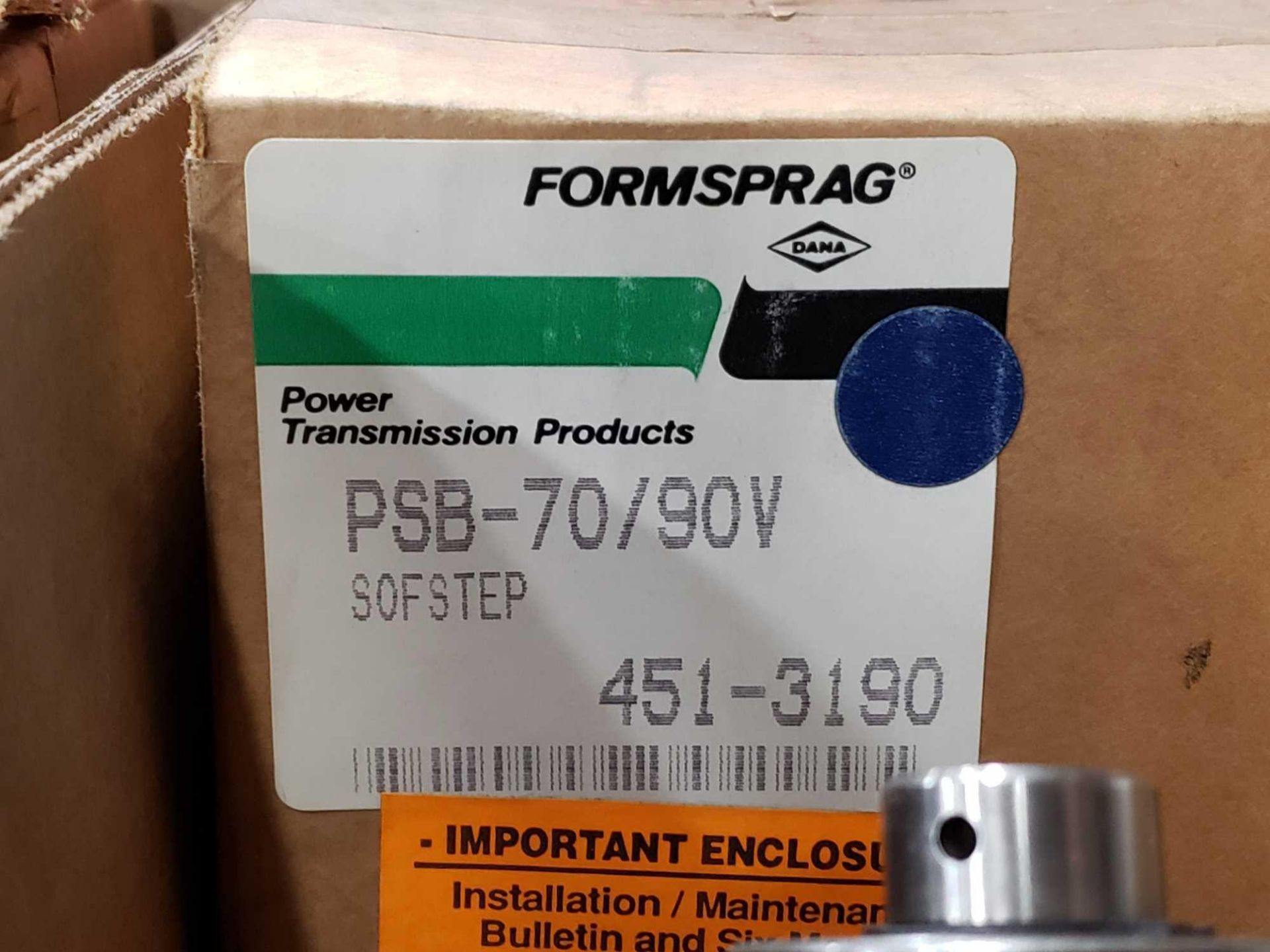 Lot 6 - Formsprag Magpowr sofstep model PSB-70/90V magnetic partical clutch brake. New in box.