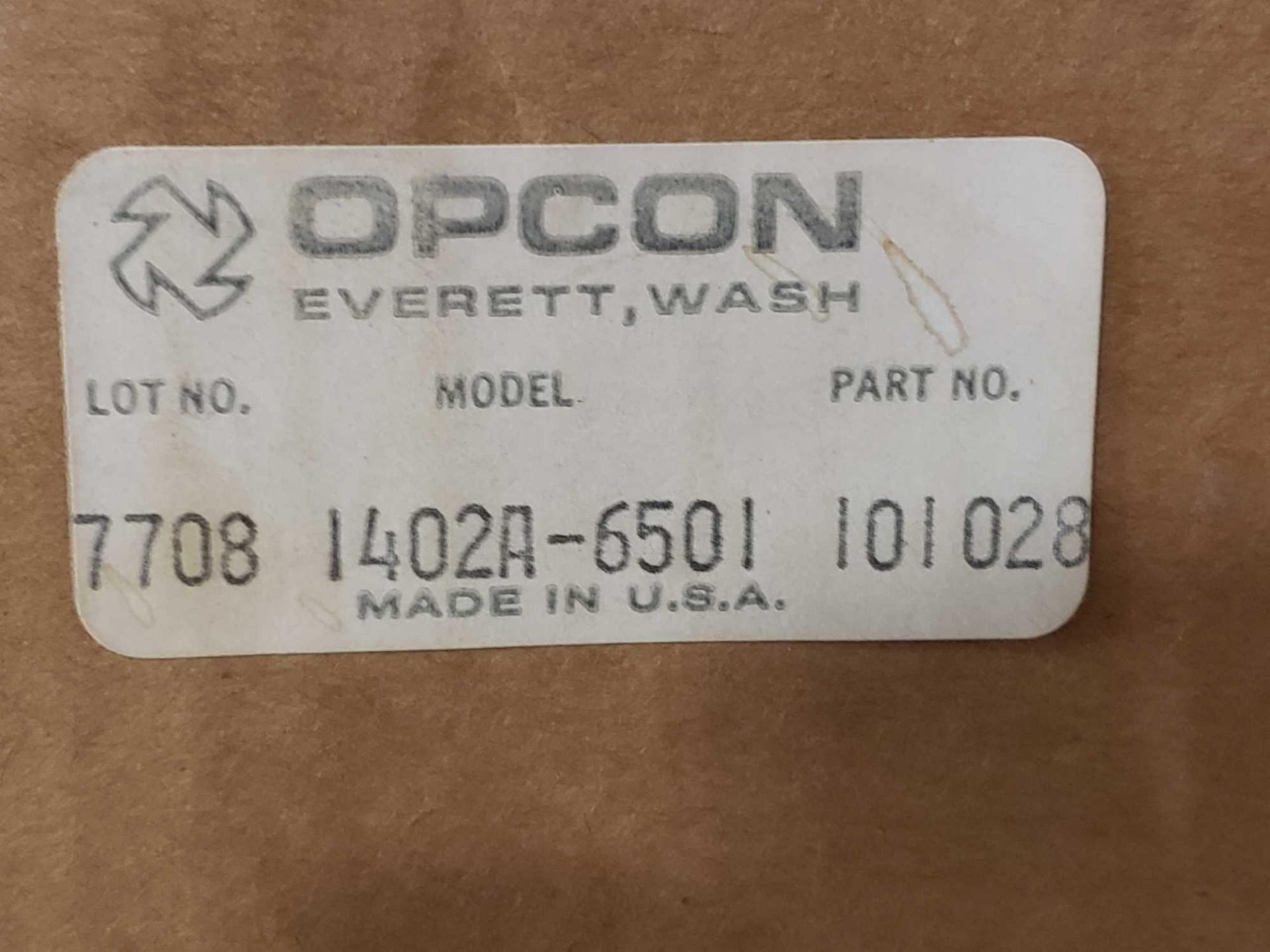 Lot 20 - Opcon model 1402A-6501, part number 101028. New in box.