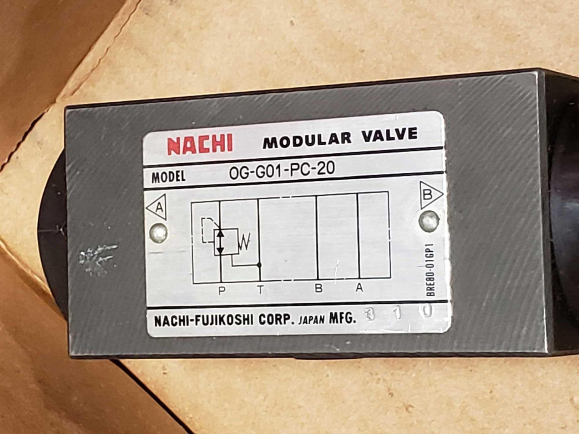 Lot 36 - Nachi hydraulic valve model OG-G01-PC-20. New as pictured.