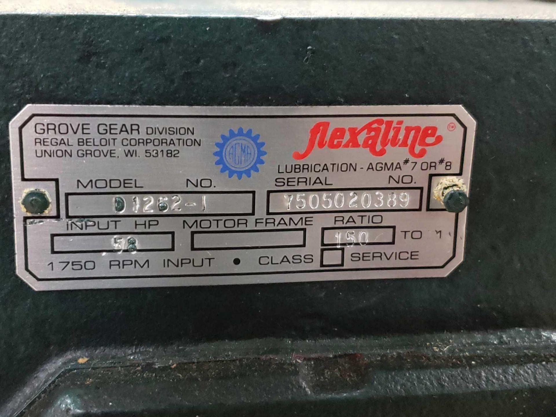 Lot 54 - Grove Gear Flexaline gearbox worm gear speed reducer model D1262-1, ratio 150:1. New in box.