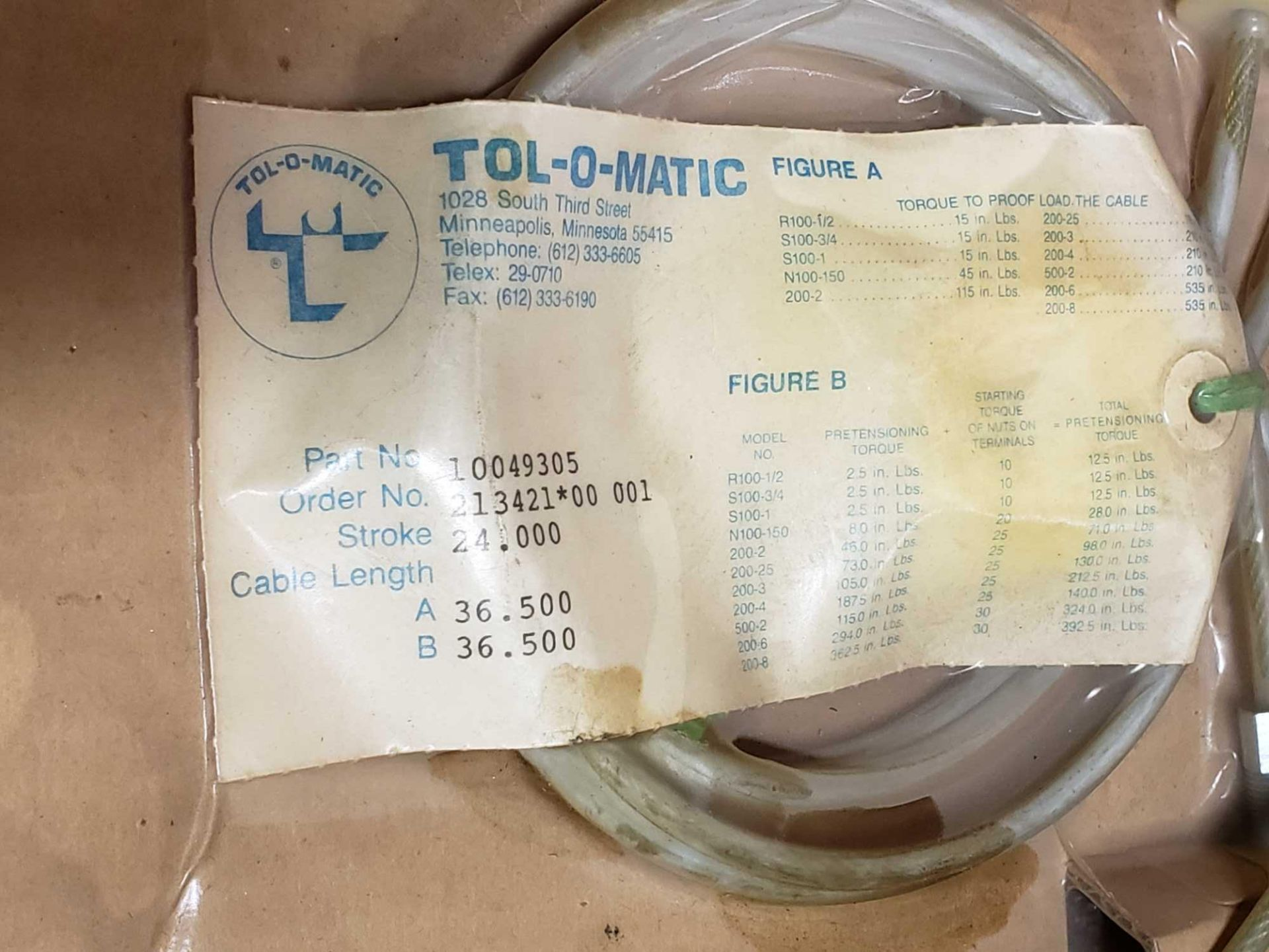 Lot 32 - Qty 5 - Assorted Tol-o-matic parts, new as pictured.