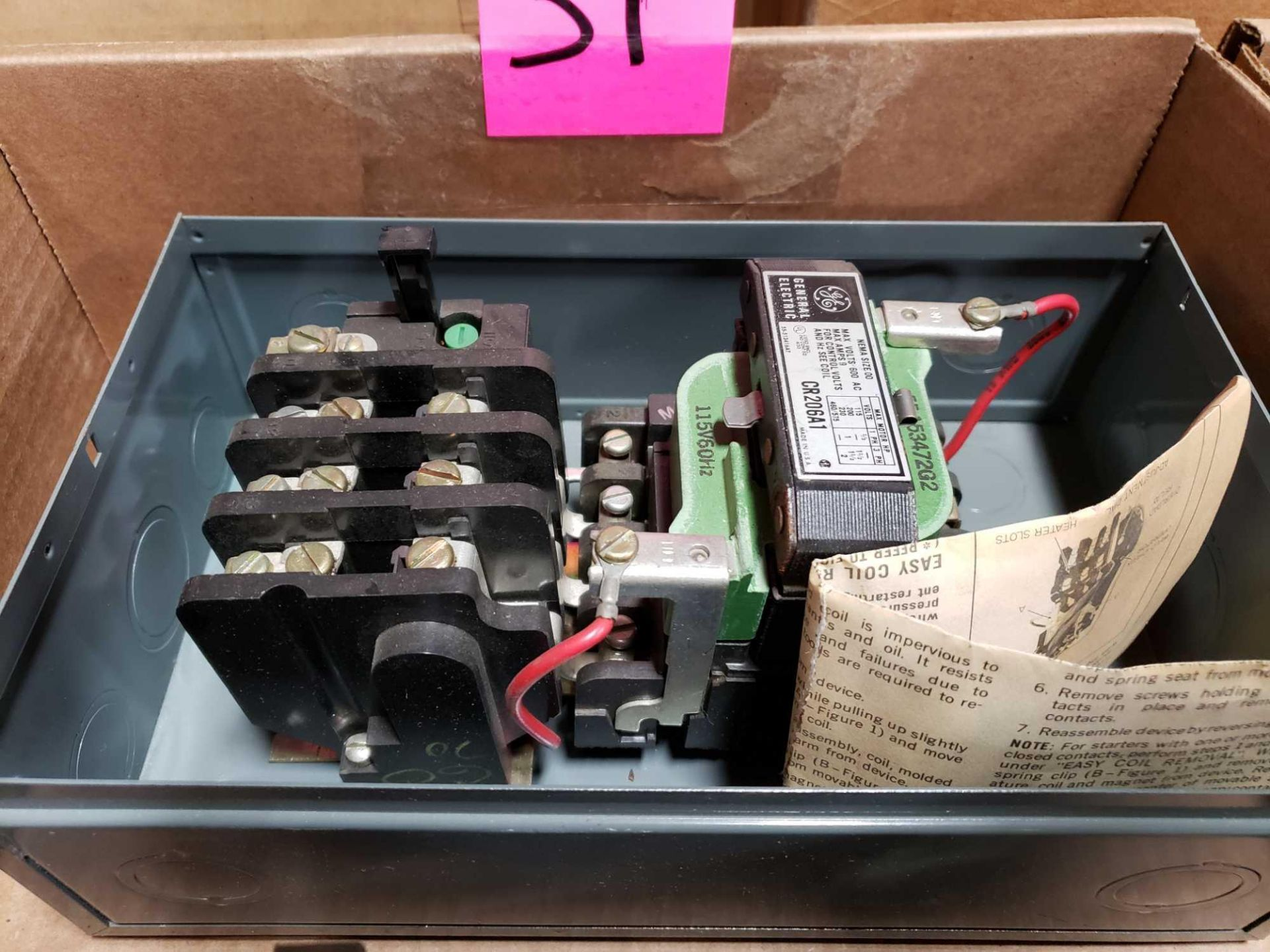 Lot 31 - Qty 2 - GE control relay assorted starters as pictured.