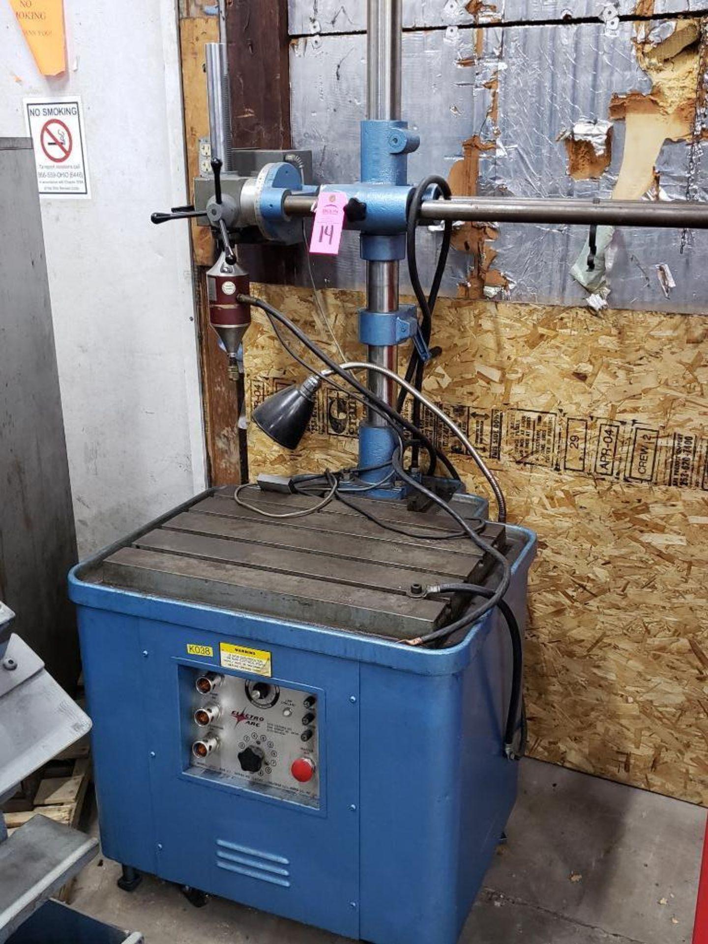Lot 14 - Electro Arc model 20BT metal disintegrator tap extractor. 10kVa, 220v, serial number 12686.