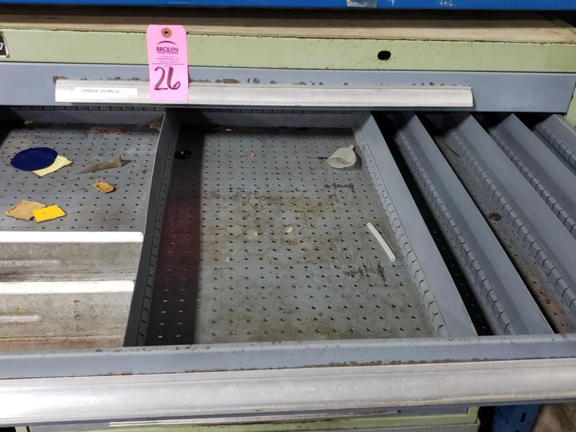 Lot 26 - 7 drawer Bott Waterloo tool cabinet on casters. Overall dimensions 48Tx44.5Wx30D.