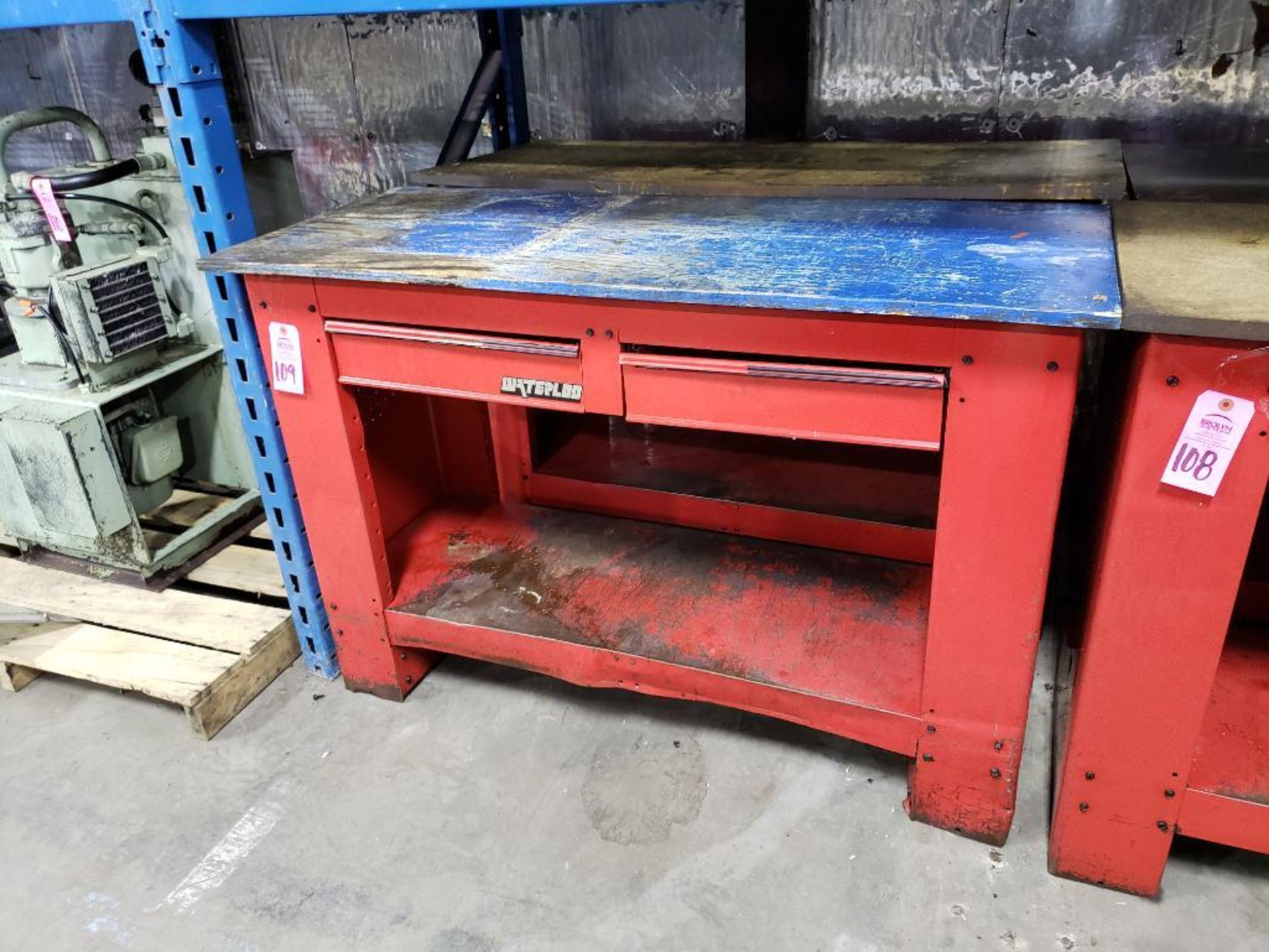 Lot 109 - Qty 2 - Waterloo workbenches.