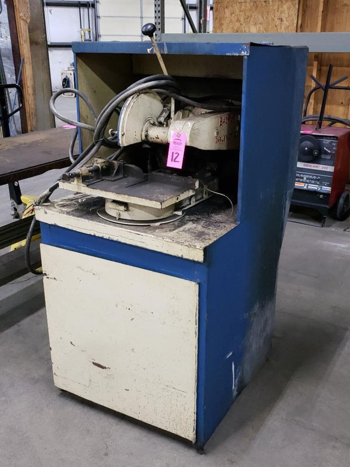 Lot 12 - Backus 2hp cold abrasive saw. 3 phase, 208-230/460v.