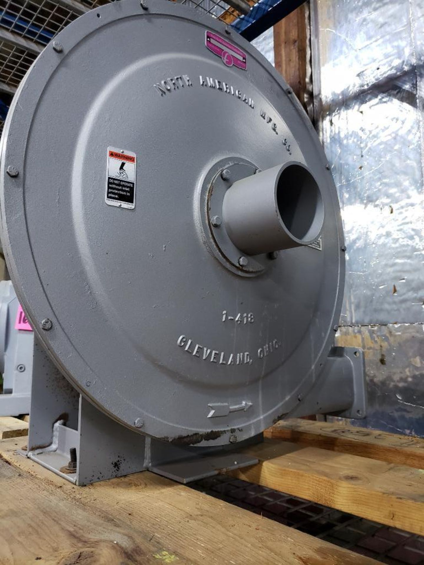 Lot 167 - North American turbo blower 340cfm. Appears new old stock.