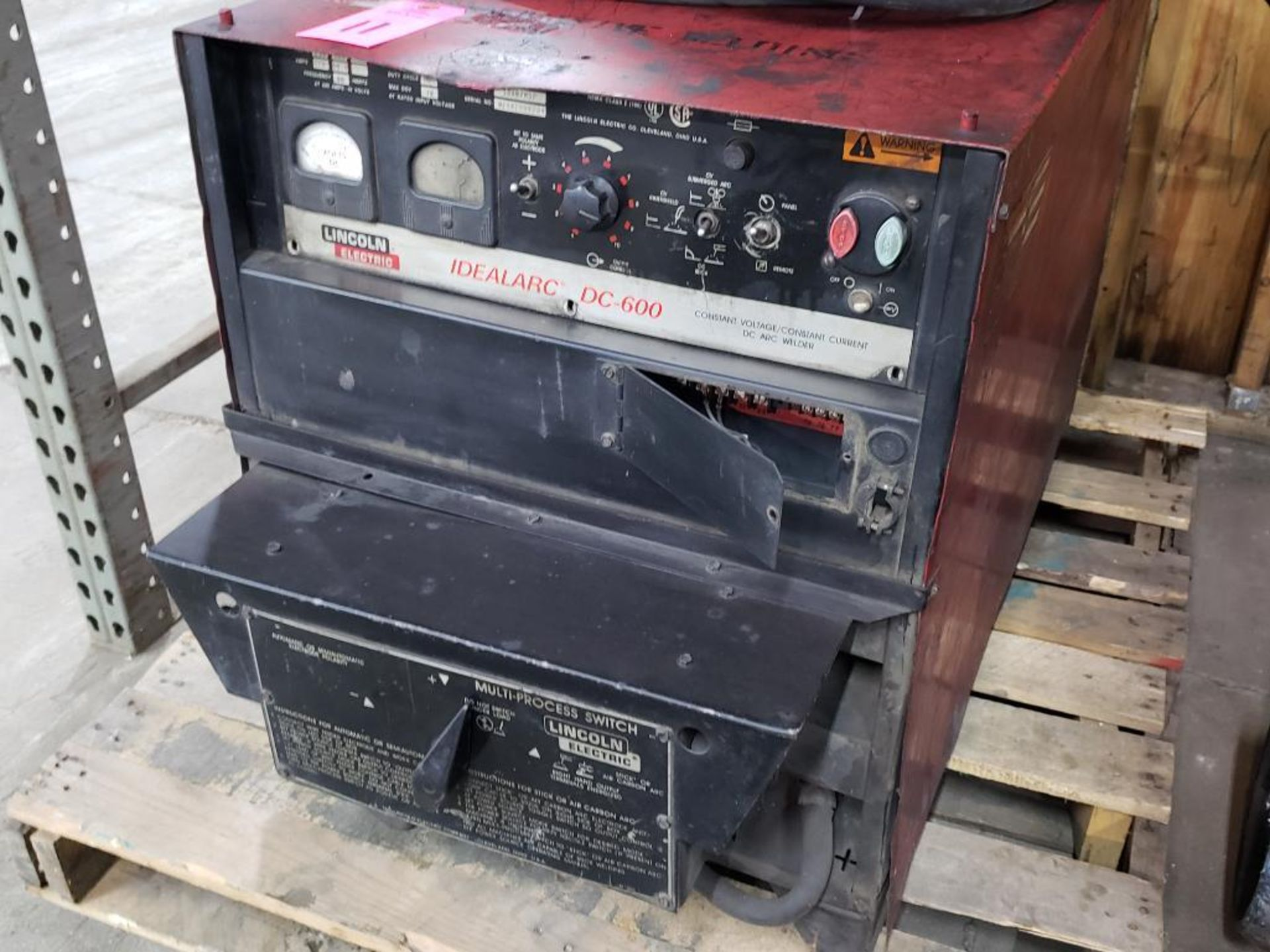 Lot 11 - Lincoln Electric welder Idealarc DC-600 arc welder, 3 phase 230/460v input.