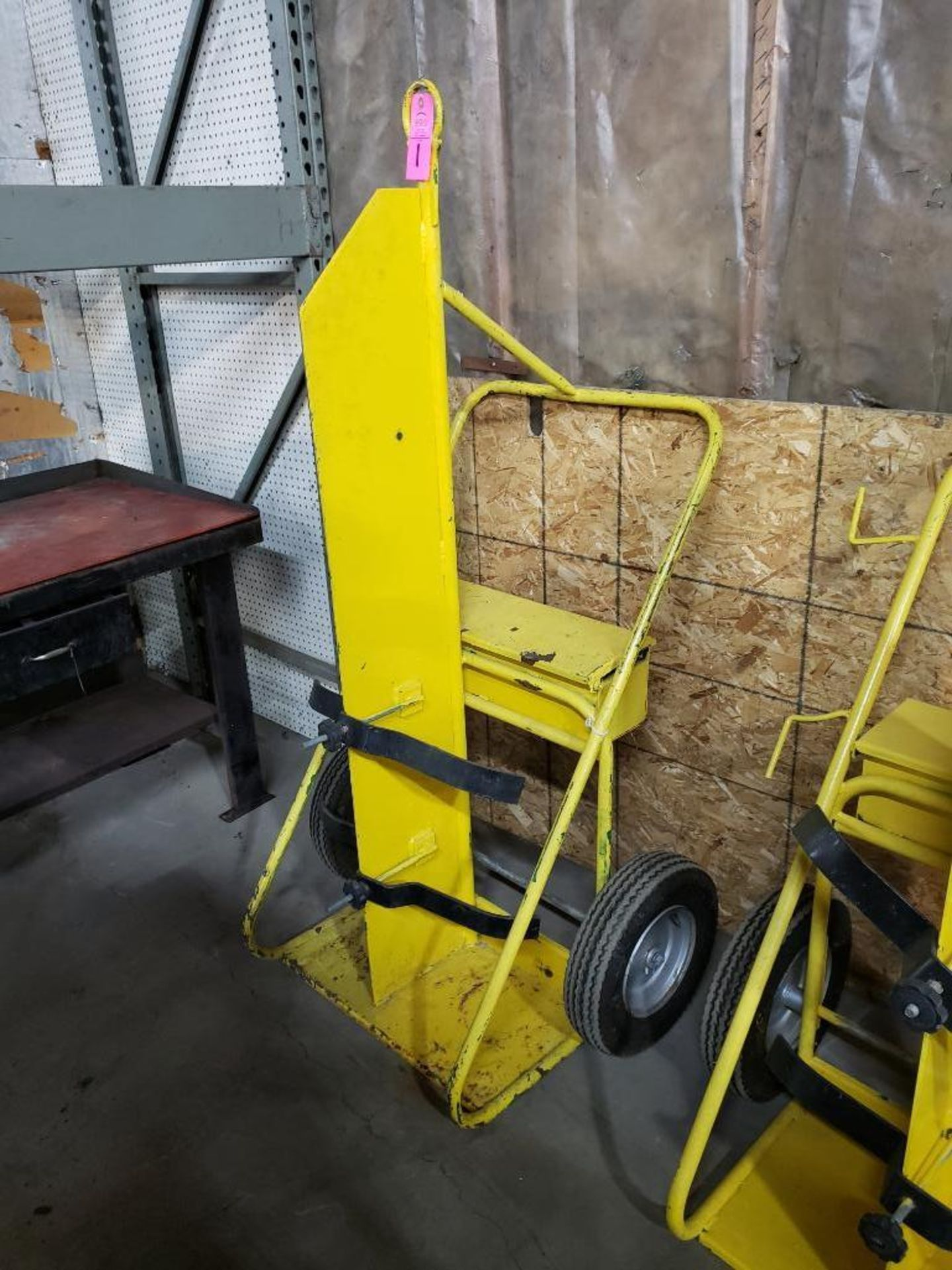 Lot 1 - Heavy duty factory torch cart with pneumatic tires.