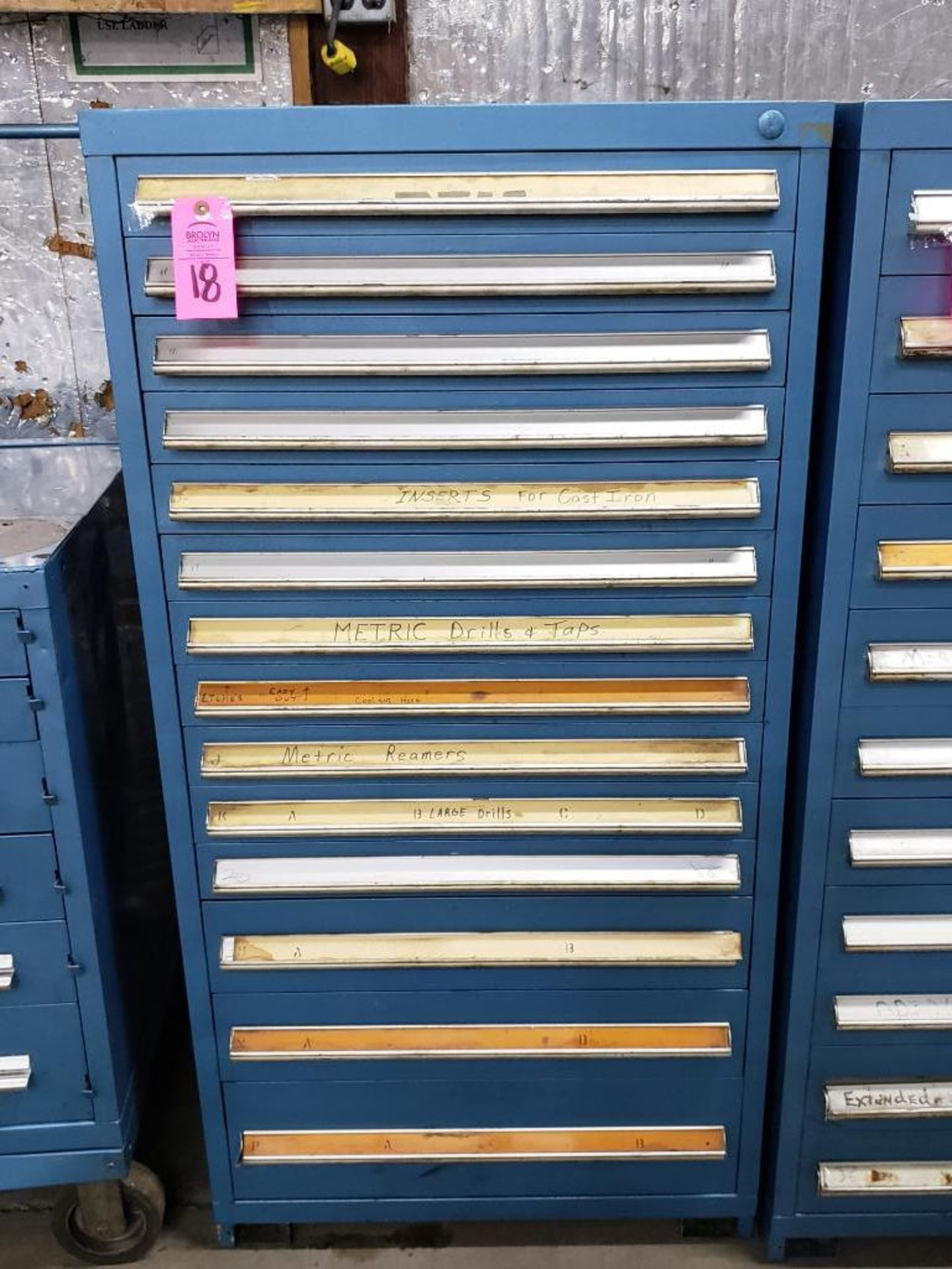 Lot 18 - 11 drawer Stanley Vidmar. Overall Dimensions 59Tx30Wx28D.