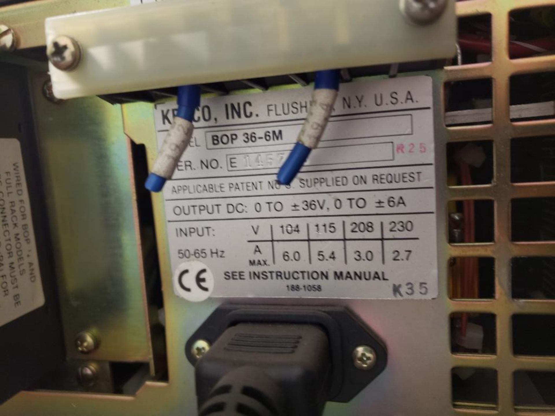 Lot 501 - Kepco power supply model BOP-36-6M.