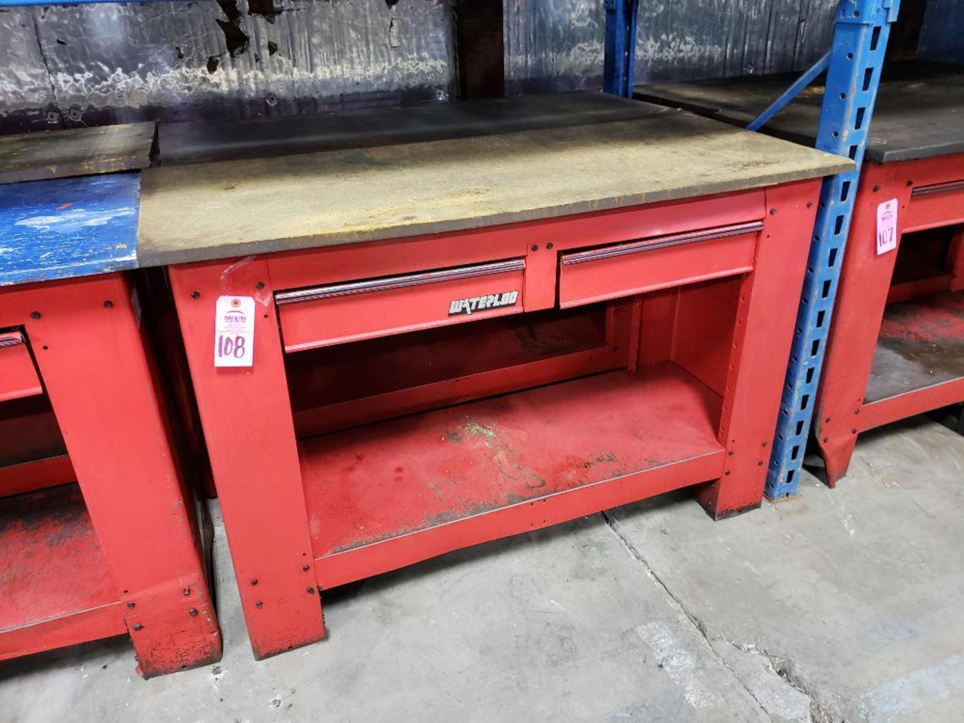 Lot 108 - Qty 2 - Waterloo workbenches.