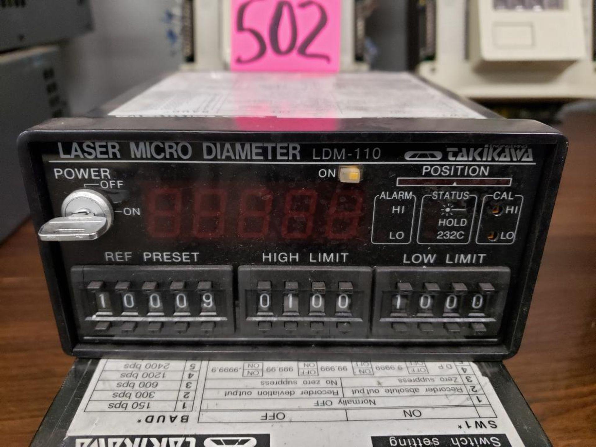 Lot 502 - Qty 2 - Takikawa laser micro diameter. Model LDM-110.