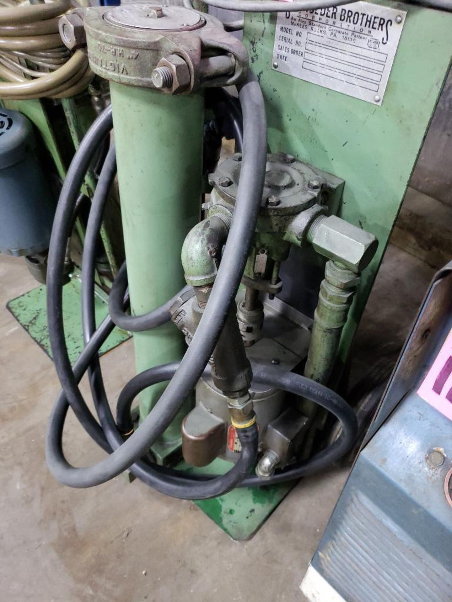 Lot 115 - Schroeder Brothers hydraulic fluid filtration unit.