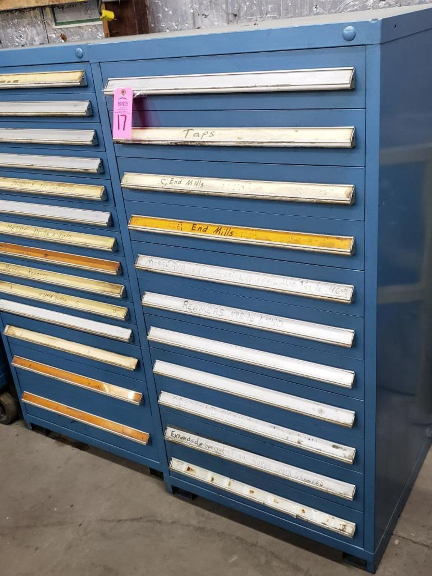 Lot 17 - 11 drawer Stanley Vidmar. Overall Dimensions 59Tx30Wx28D.