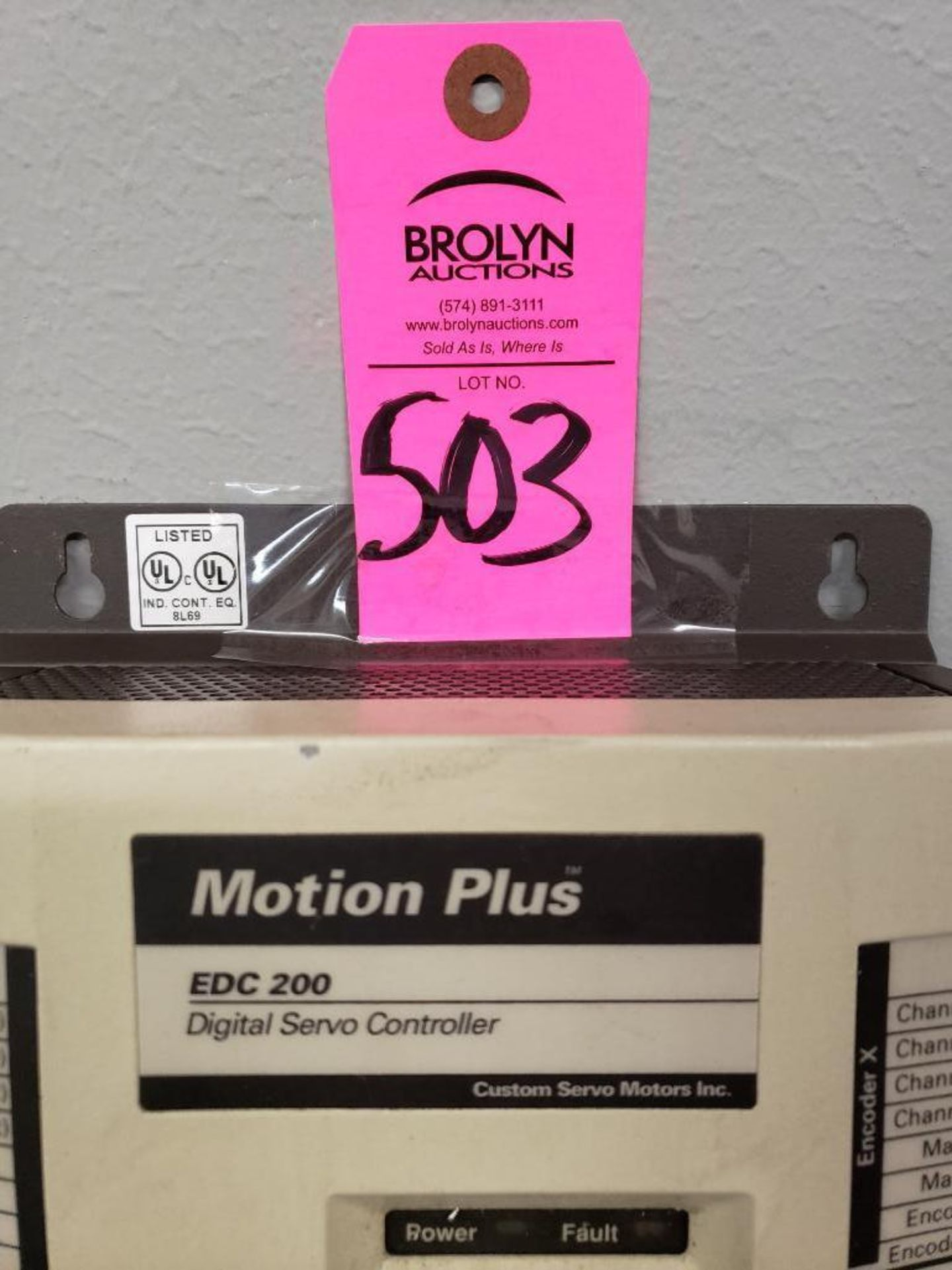 Lot 503 - Motion Plus model EDC3200 Digital Servo Controller.