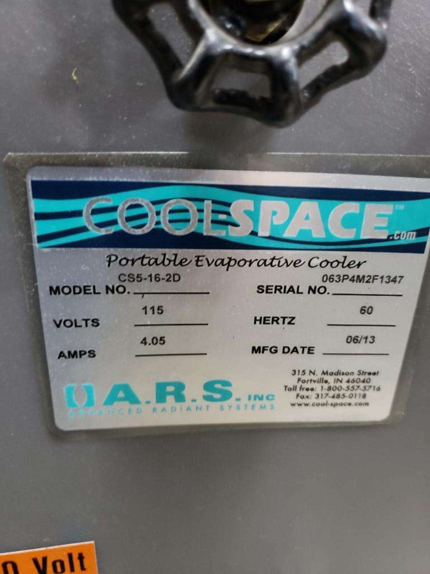Lot 76 - Cool space portable evaporative cooler model CS5-16-2D. single phase 115v. Mfg Date 06/13.