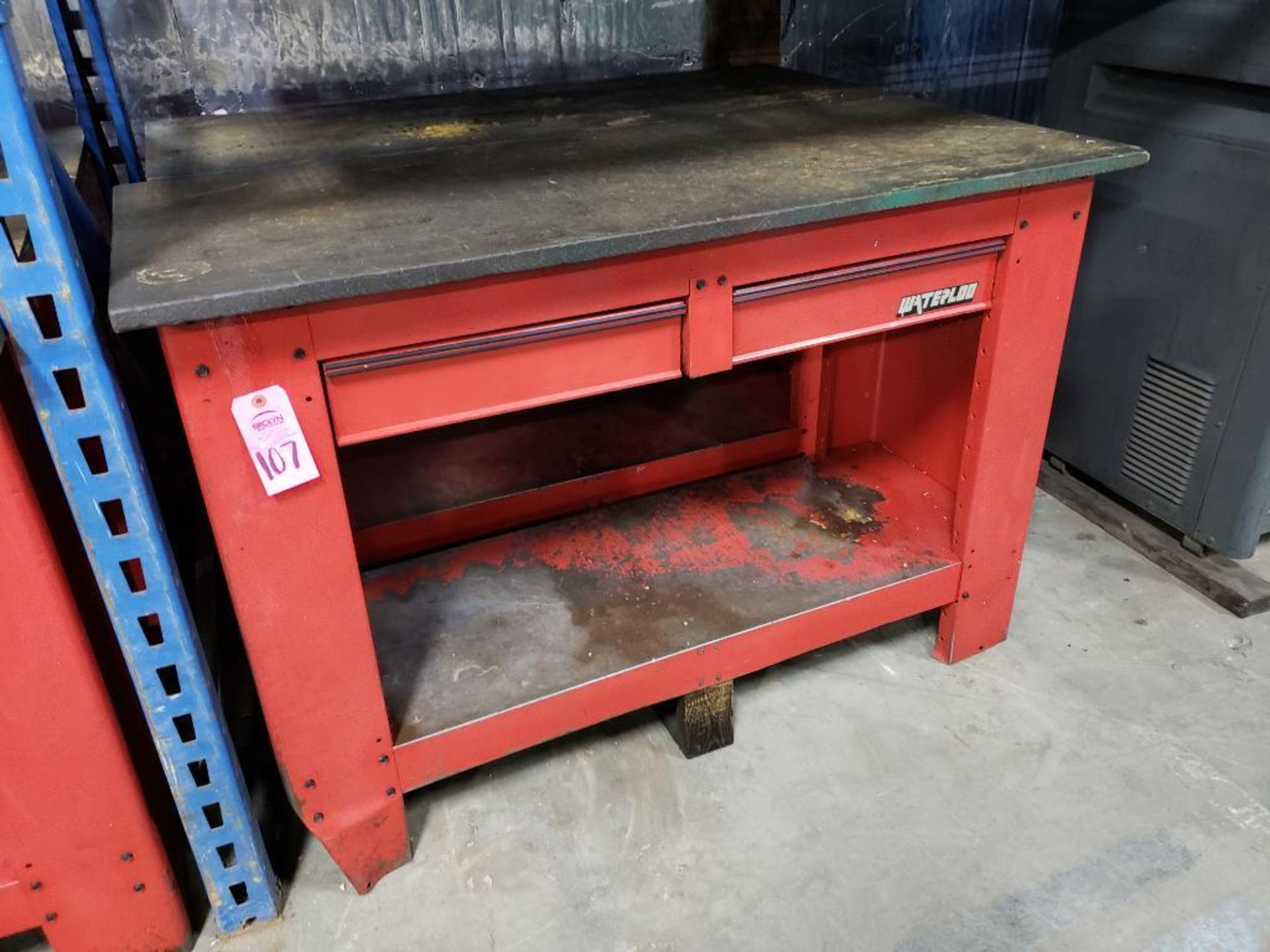 Lot 107 - Qty 2 - Waterloo workbenches.