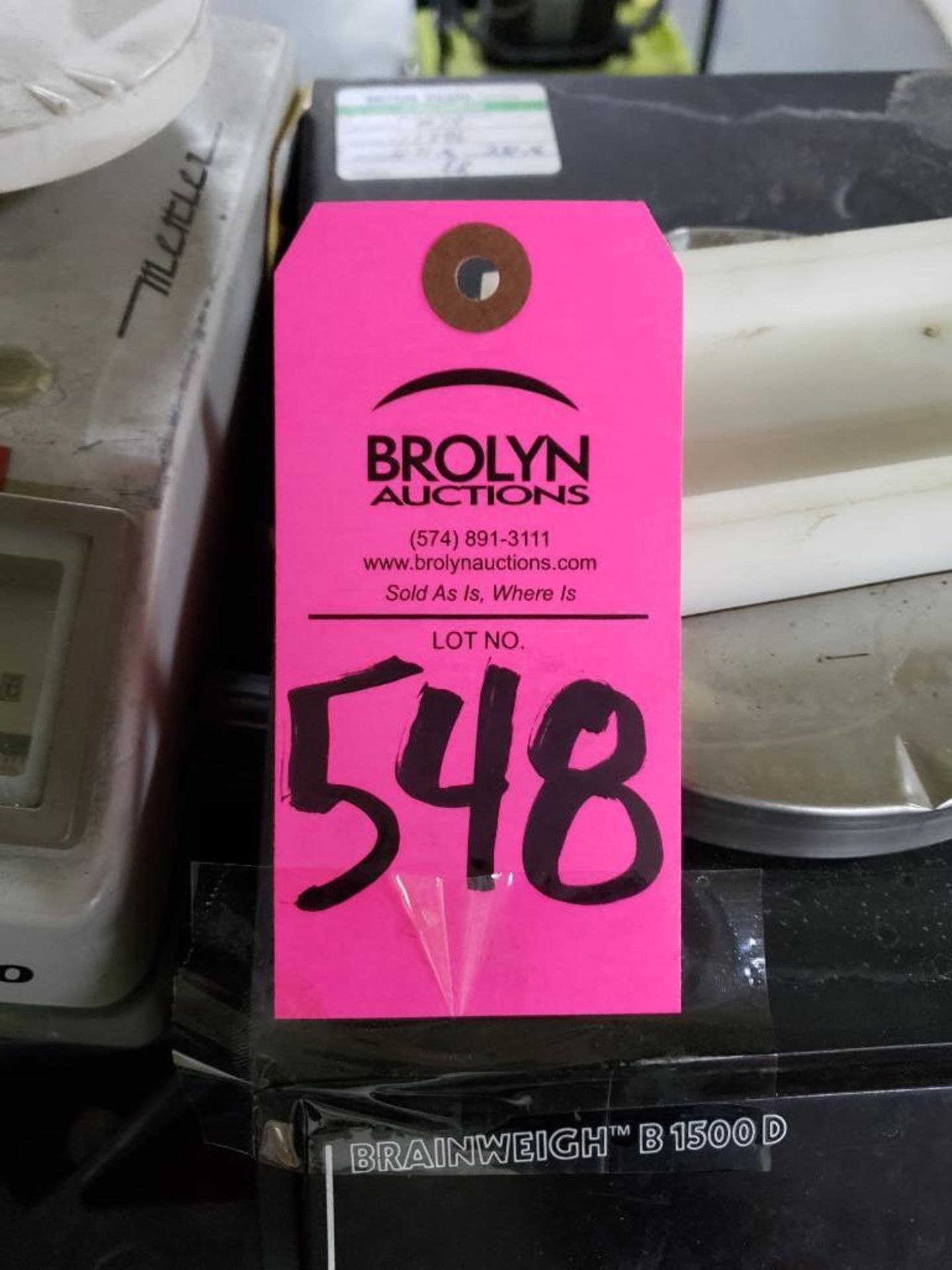 Lot 548 - Qty 2 - Mettler Toledo E200 and Brainweigh B1500D scales.