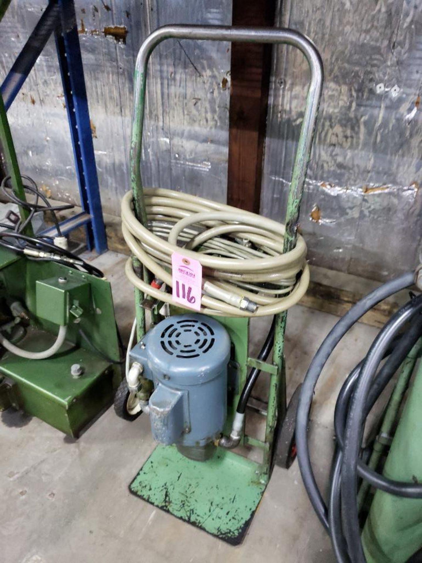 Lot 116 - Hydraulic fluid filtration unit. Single phase 110v.