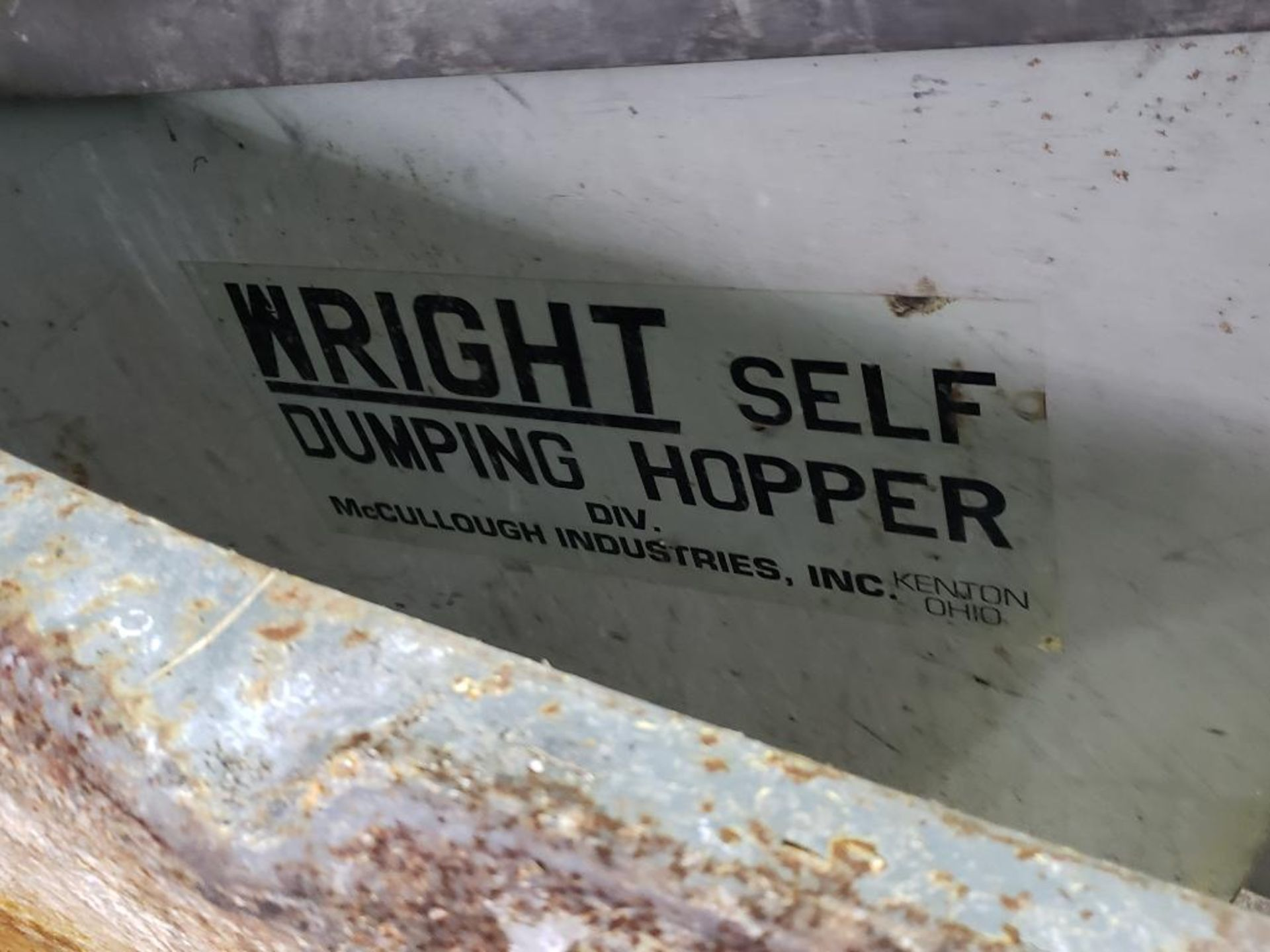 Lot 52 - Self dumping hopper on casters.