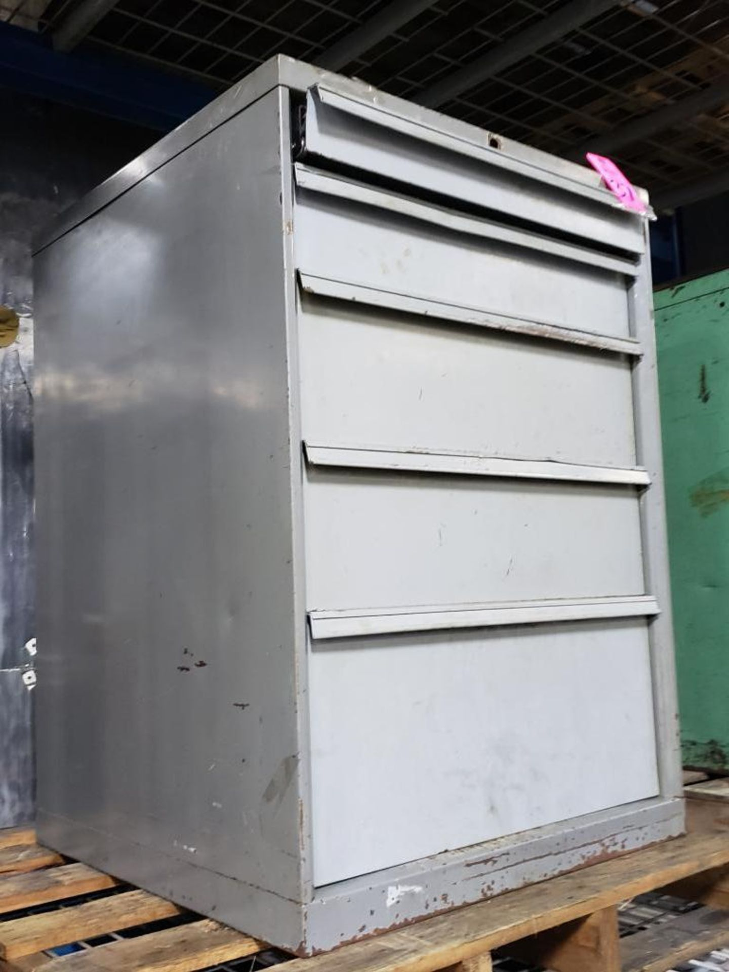Lot 37 - 5 drawer Tool cabinet. Overall dimensions 39.5Tx28Wx29D.
