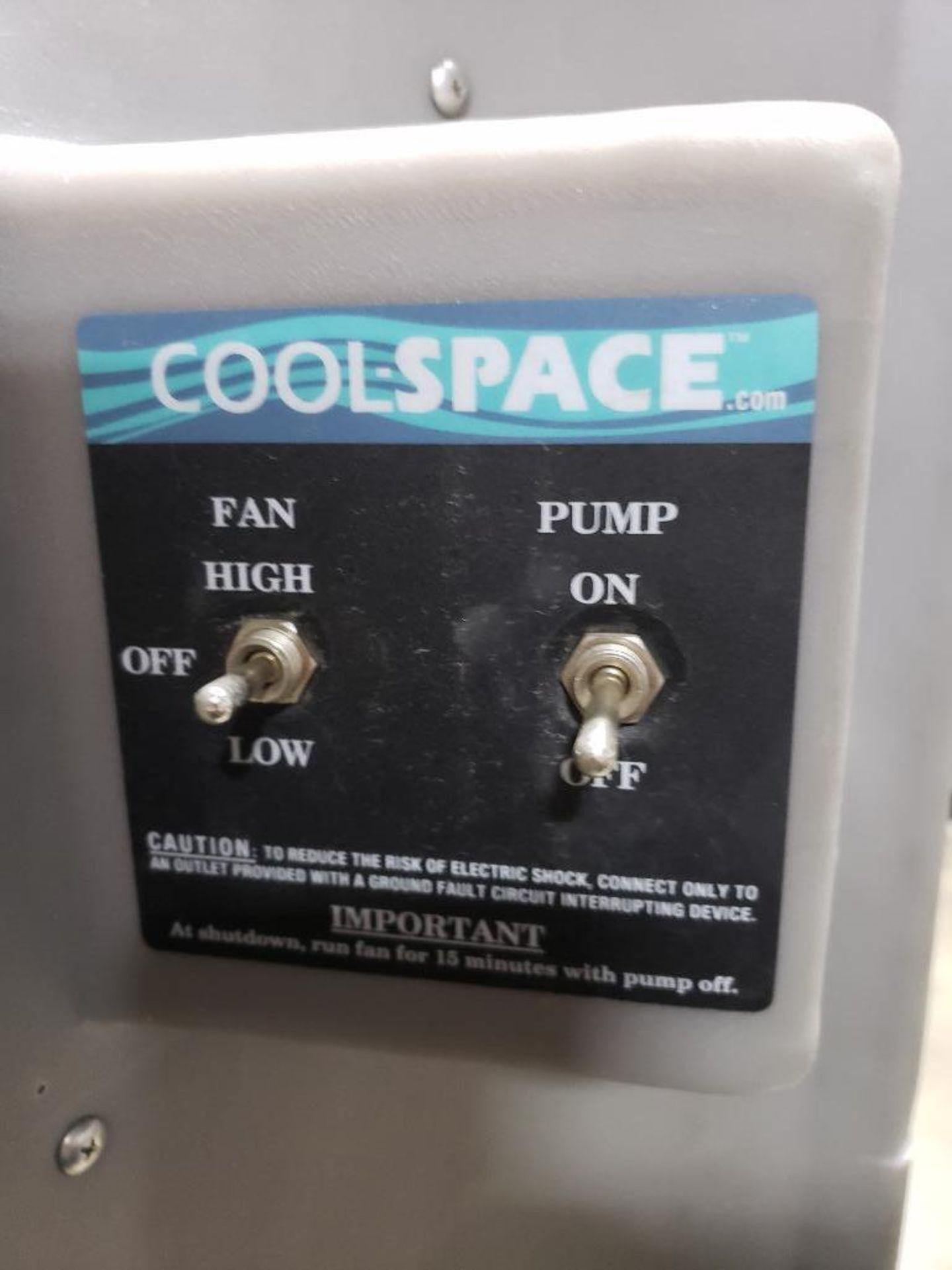 Lot 79 - Cool space portable evaporative cooler model CS5-48-2B. single phase 115v. Mfg Date 05/13.