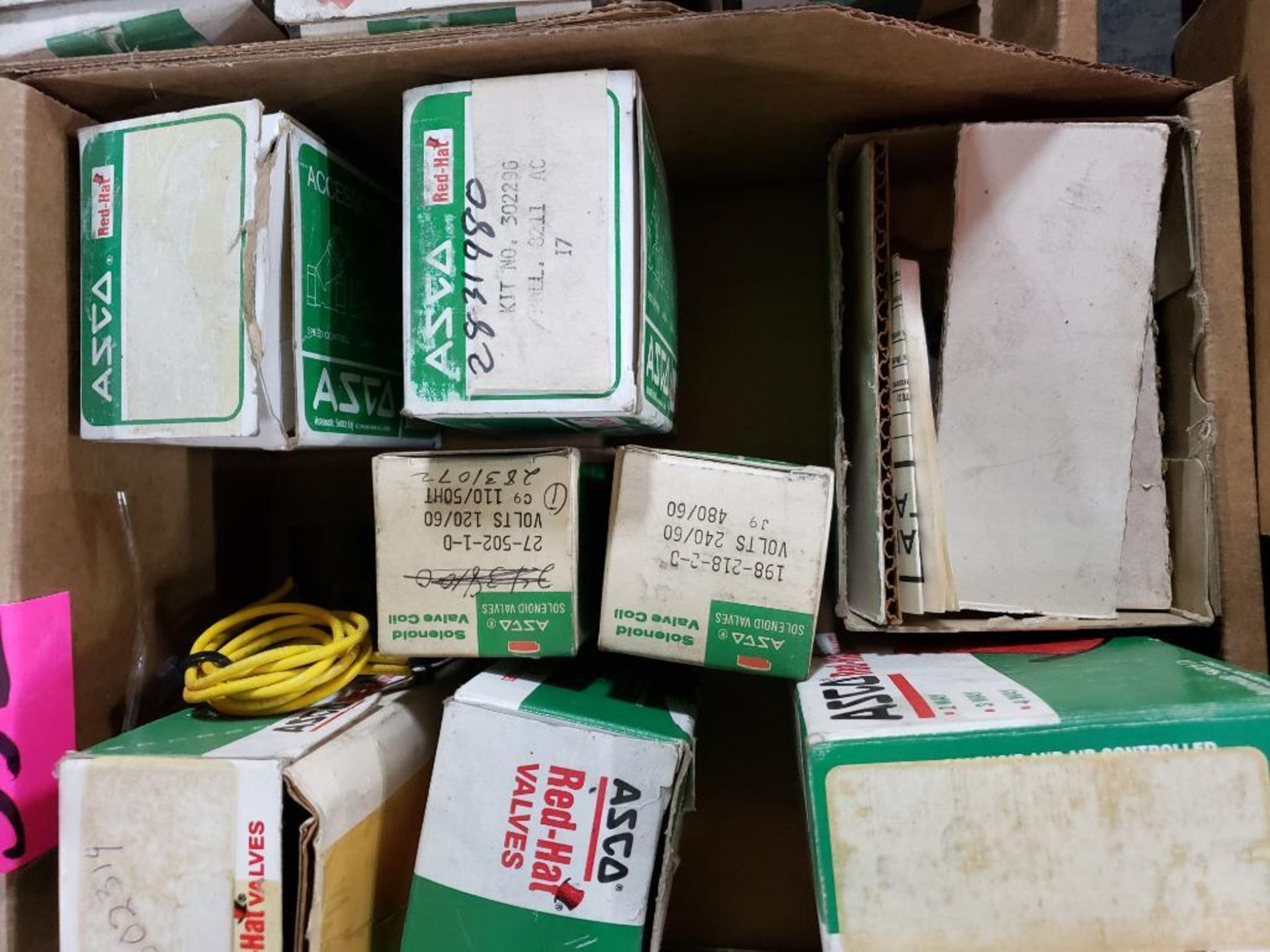 Lot 552 - Assorted Asco valves and parts as pictured.
